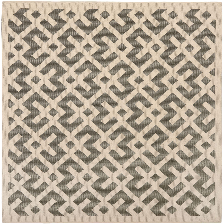 Mirabelle Gray/Bone Indoor/Outdoor Area Rug Rug Size: Square 5'3