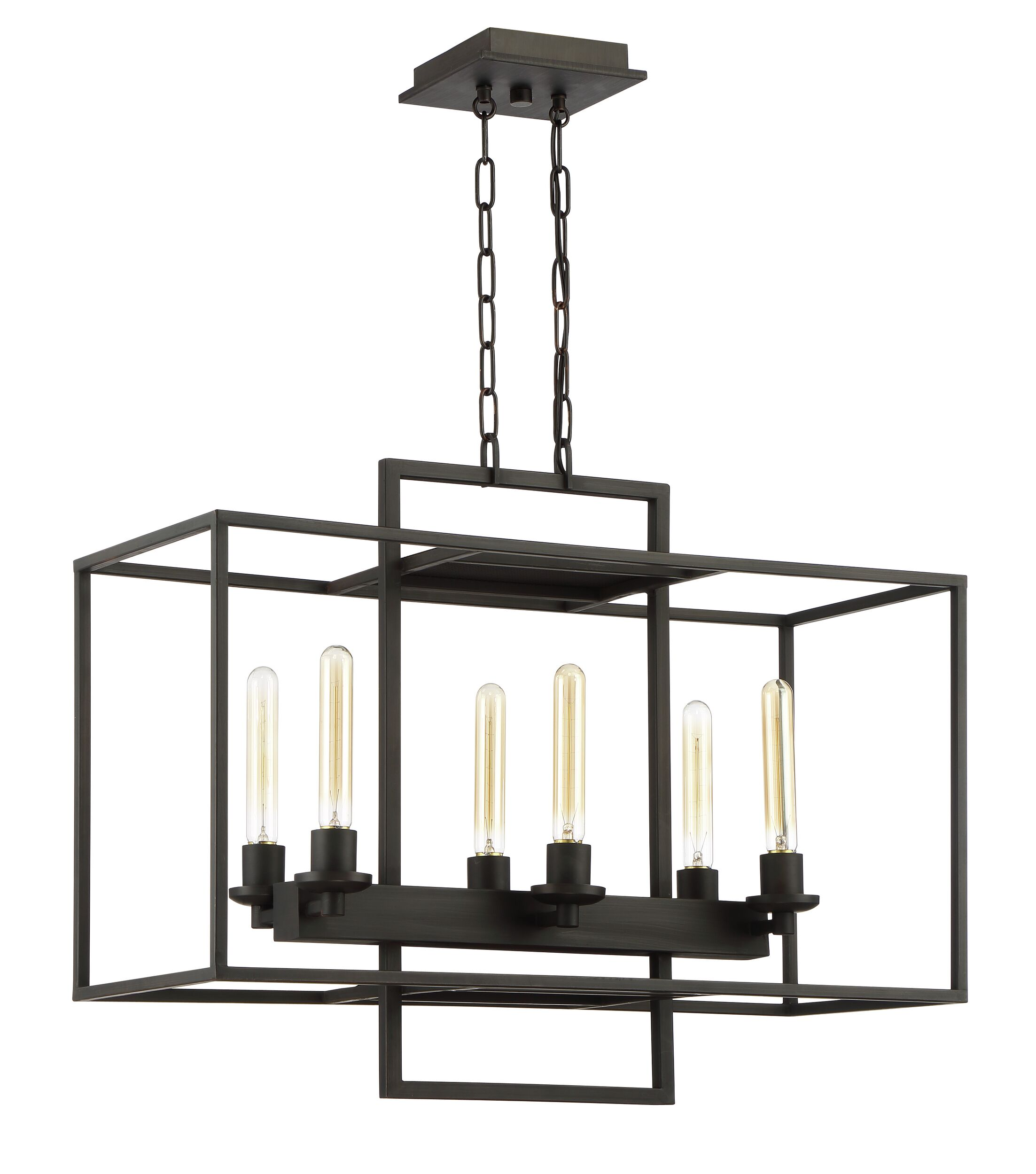 Borkowski 6-Light Kitchen Island Pendant