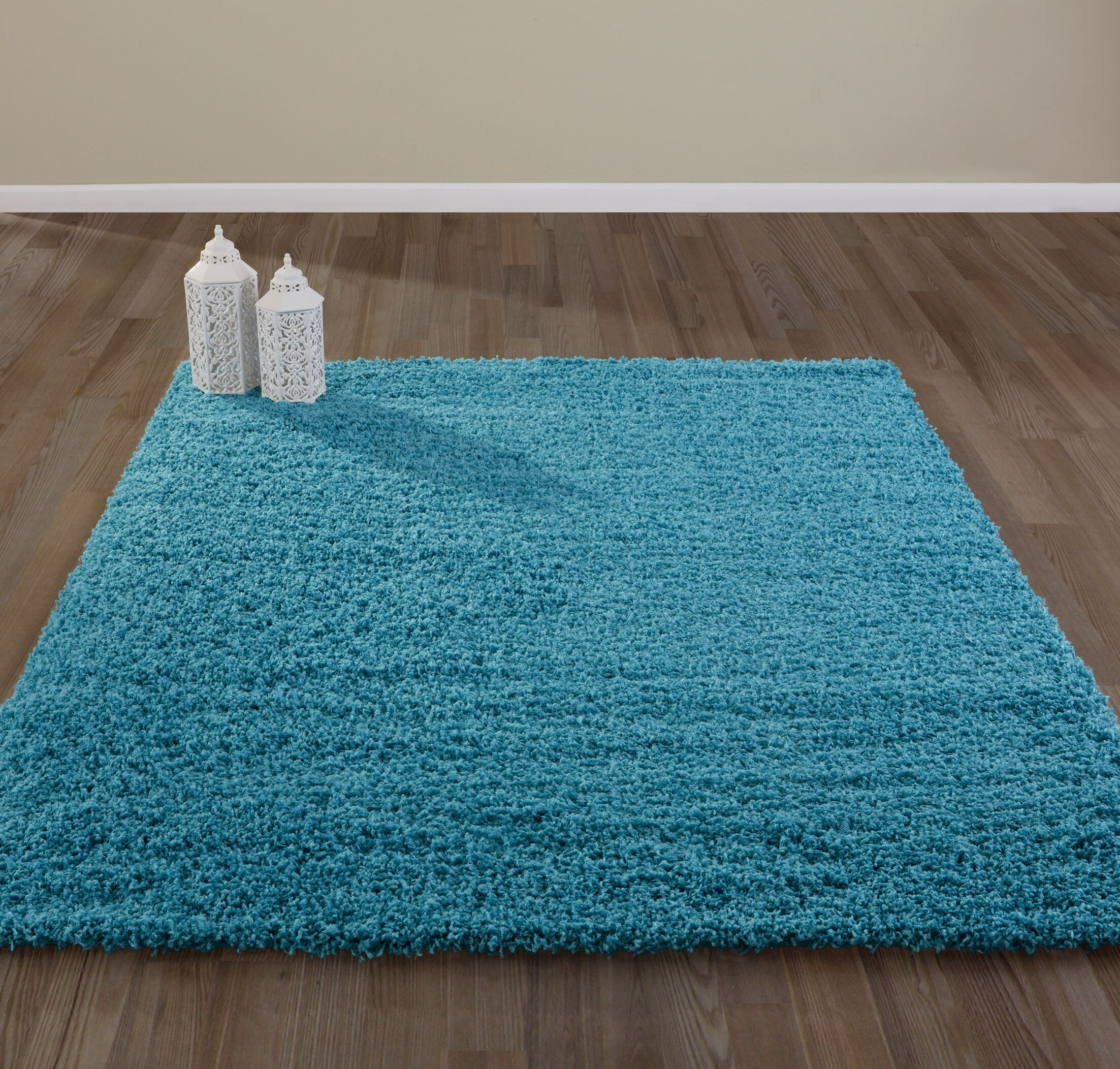 Bostrom Shag Blue Area Rug Rug Size: Rectangle 8' x 10'