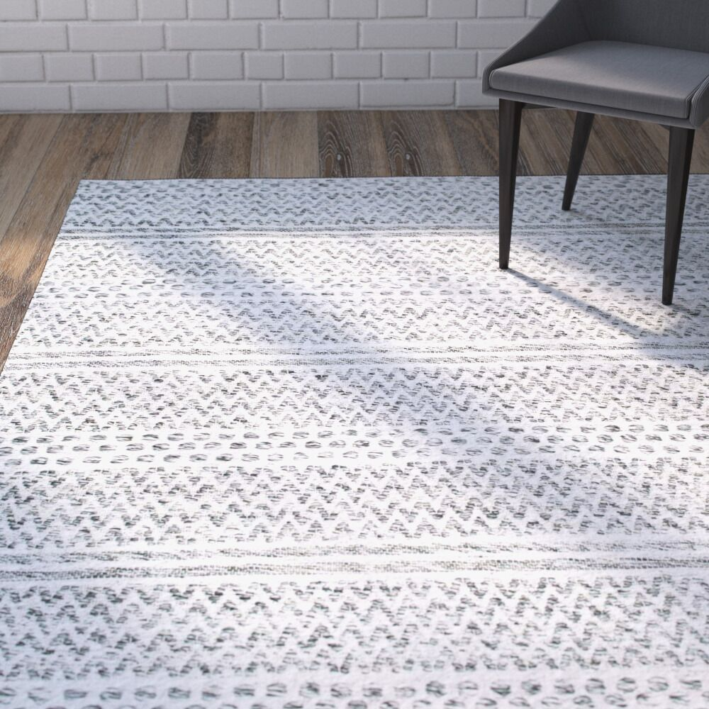 Cordell Silver Area Rug Rug Size: Rectangle 6' x 9'