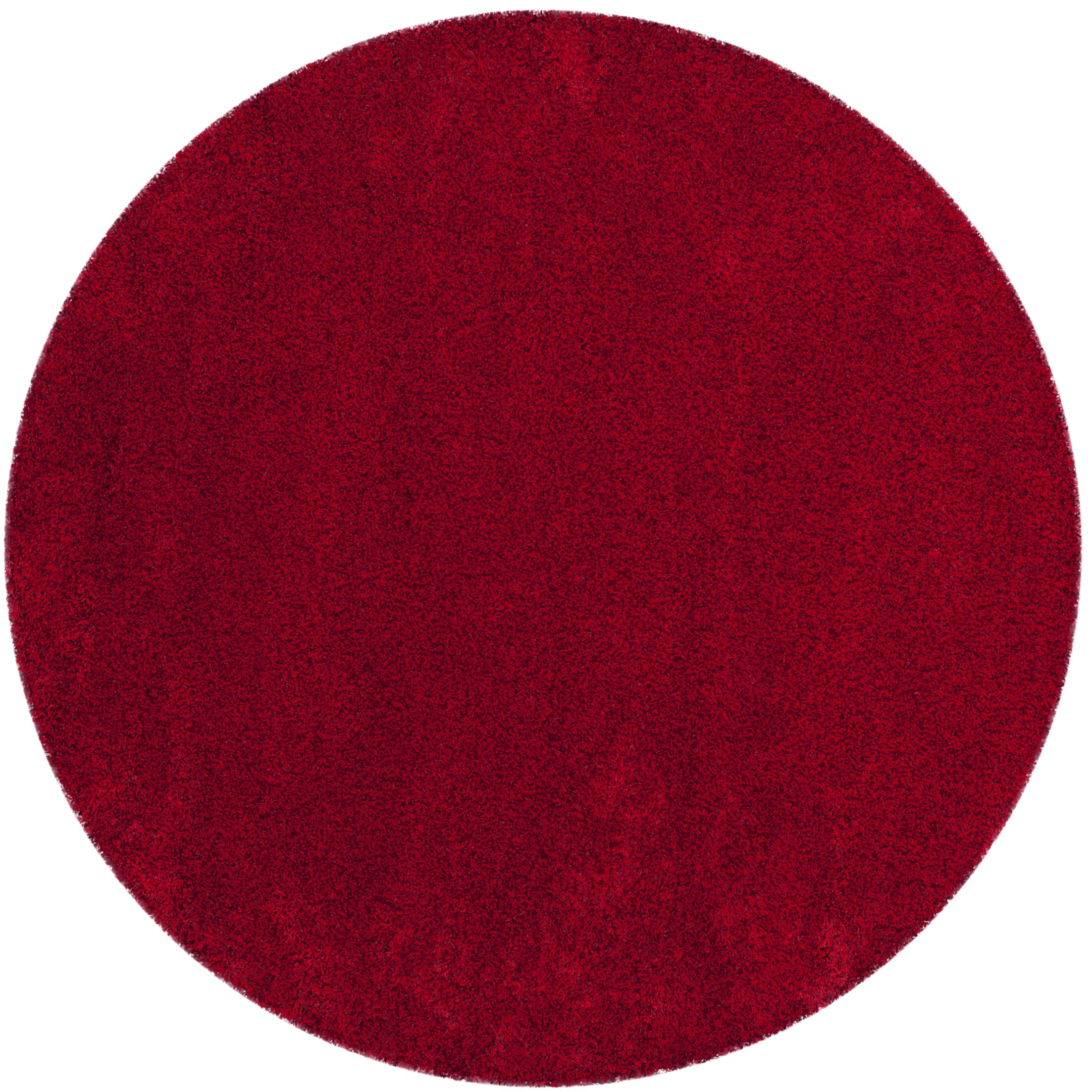 Brickner Red Area Rug Rug Size: Round 6'7