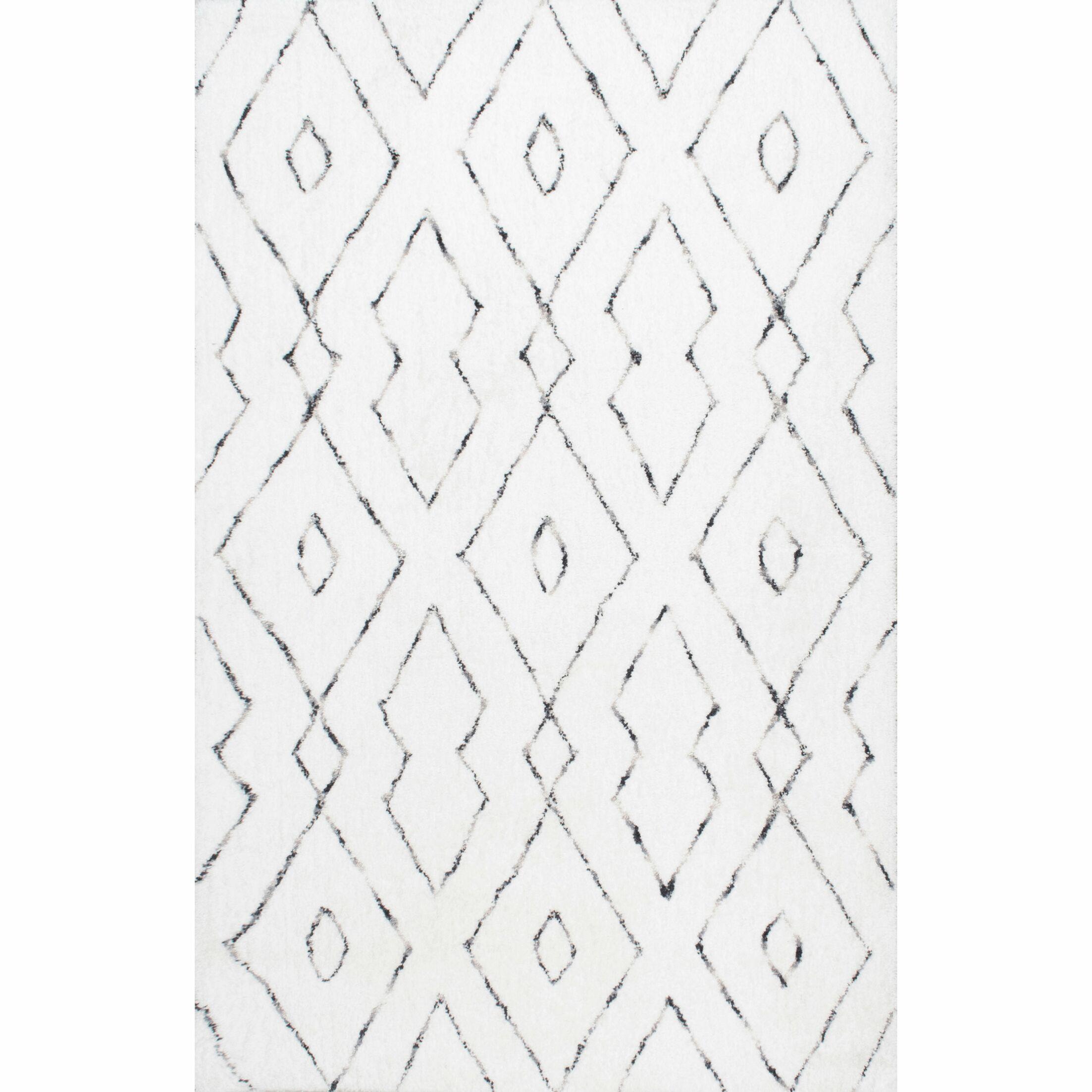 Peraza Hand-Tufted White Area Rug Rug Size: Rectangle 4' x 6'
