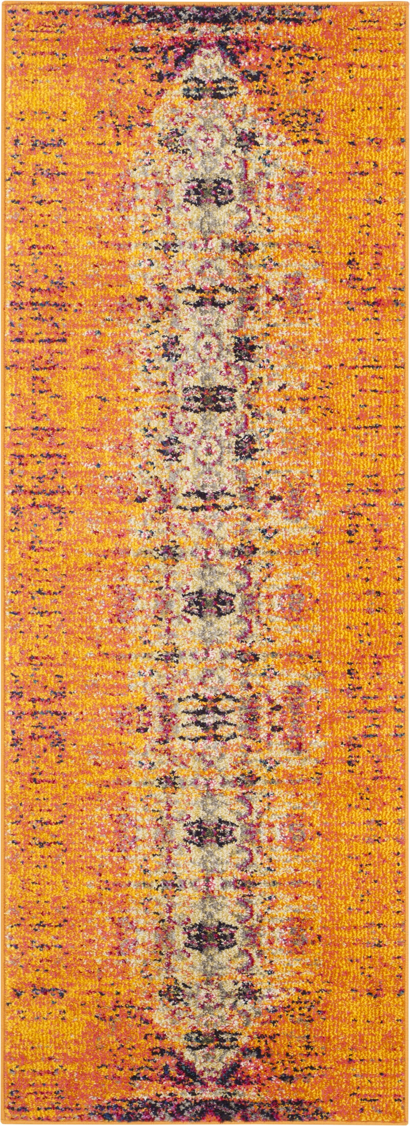 Sylvia Orange Area Rug Rug Size: Runner 2'2