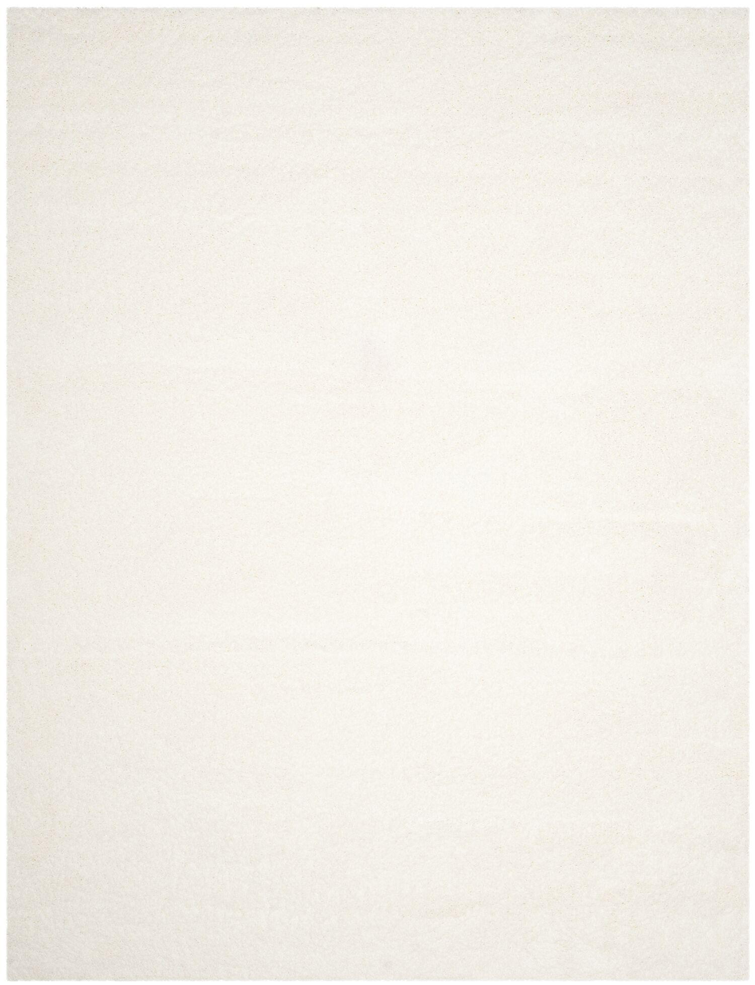 Brickner White Area Rug Rug Size: Rectangle 8' x 10'