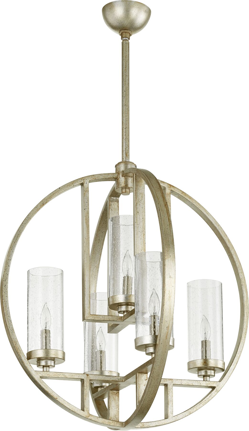 Goodrow 5-Light Pendant Finish: Aged Silver, Shade Color: Clear