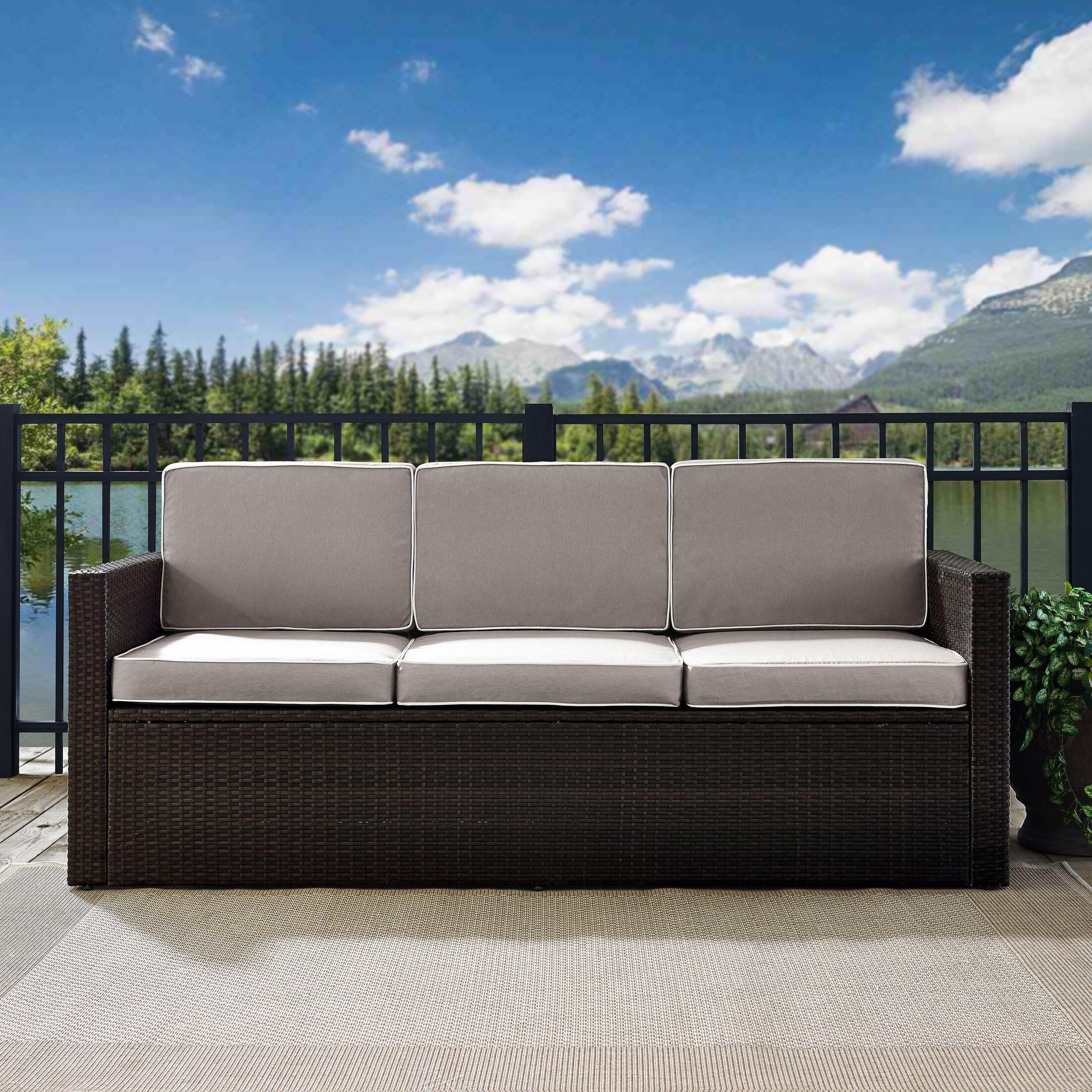 Belton Sofa with Cushions Fabric: Grey
