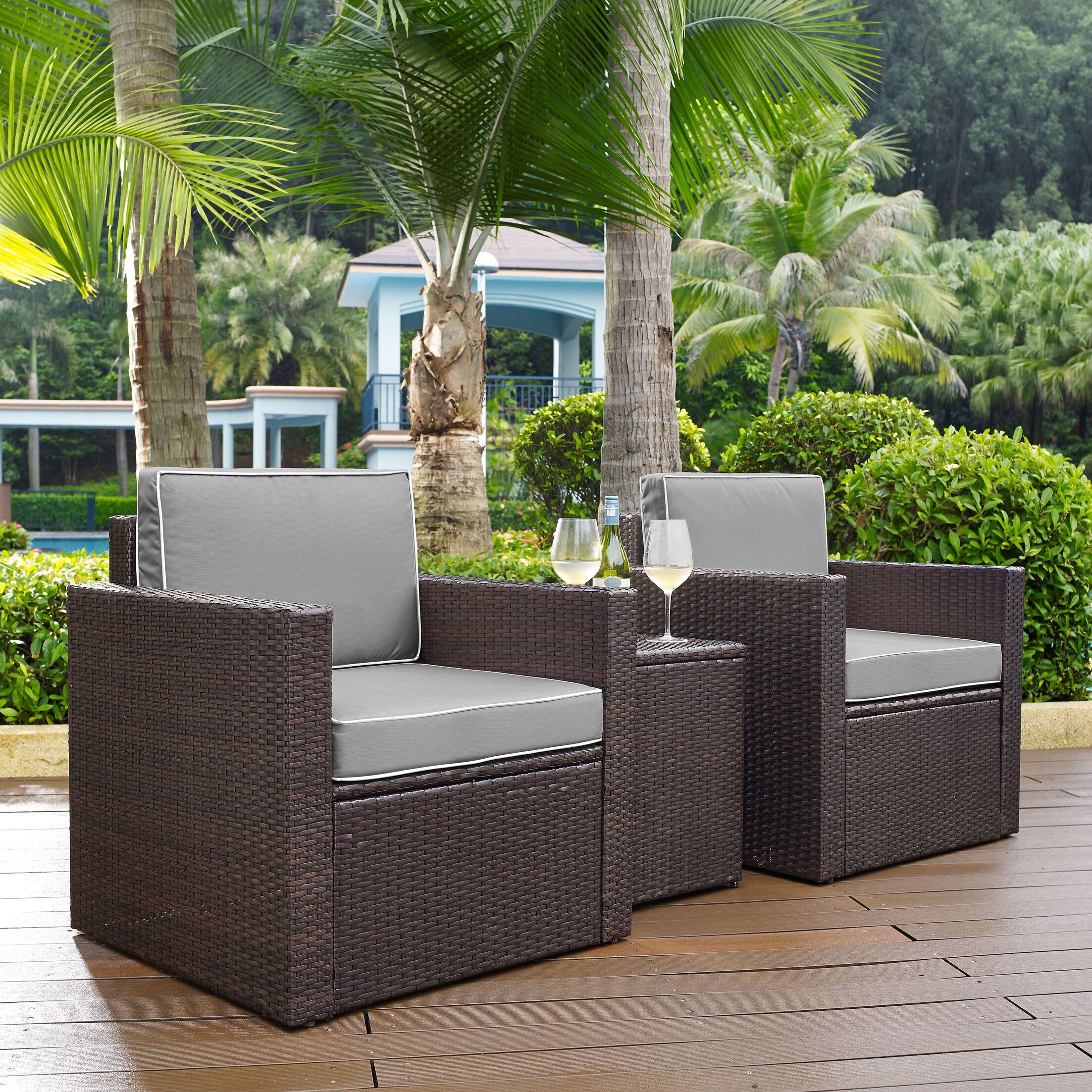 Belton 3 Piece Conversation Set with Cushions Fabric: Grey