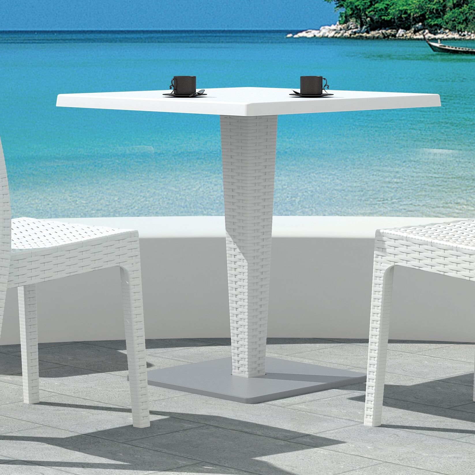 Jayne Dining Table Color: White