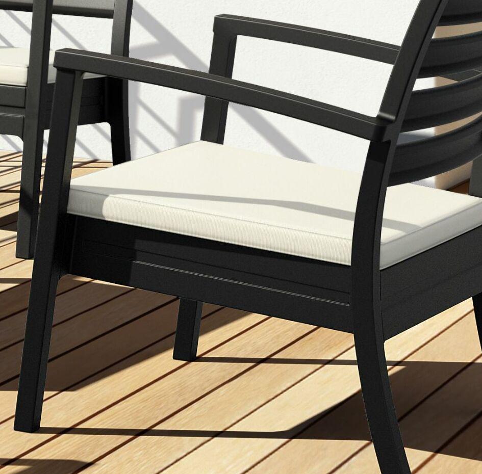Nikoleta Indoor/Outdoor Lounge Chair Cushion Fabric: Natural