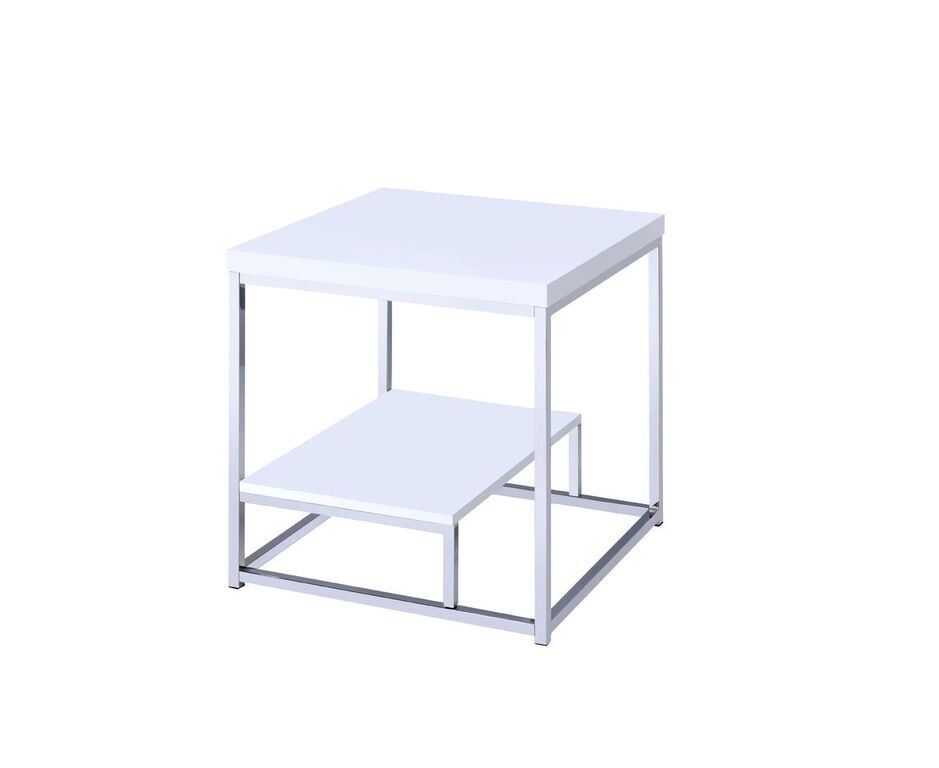 Philippos End Table Color: White