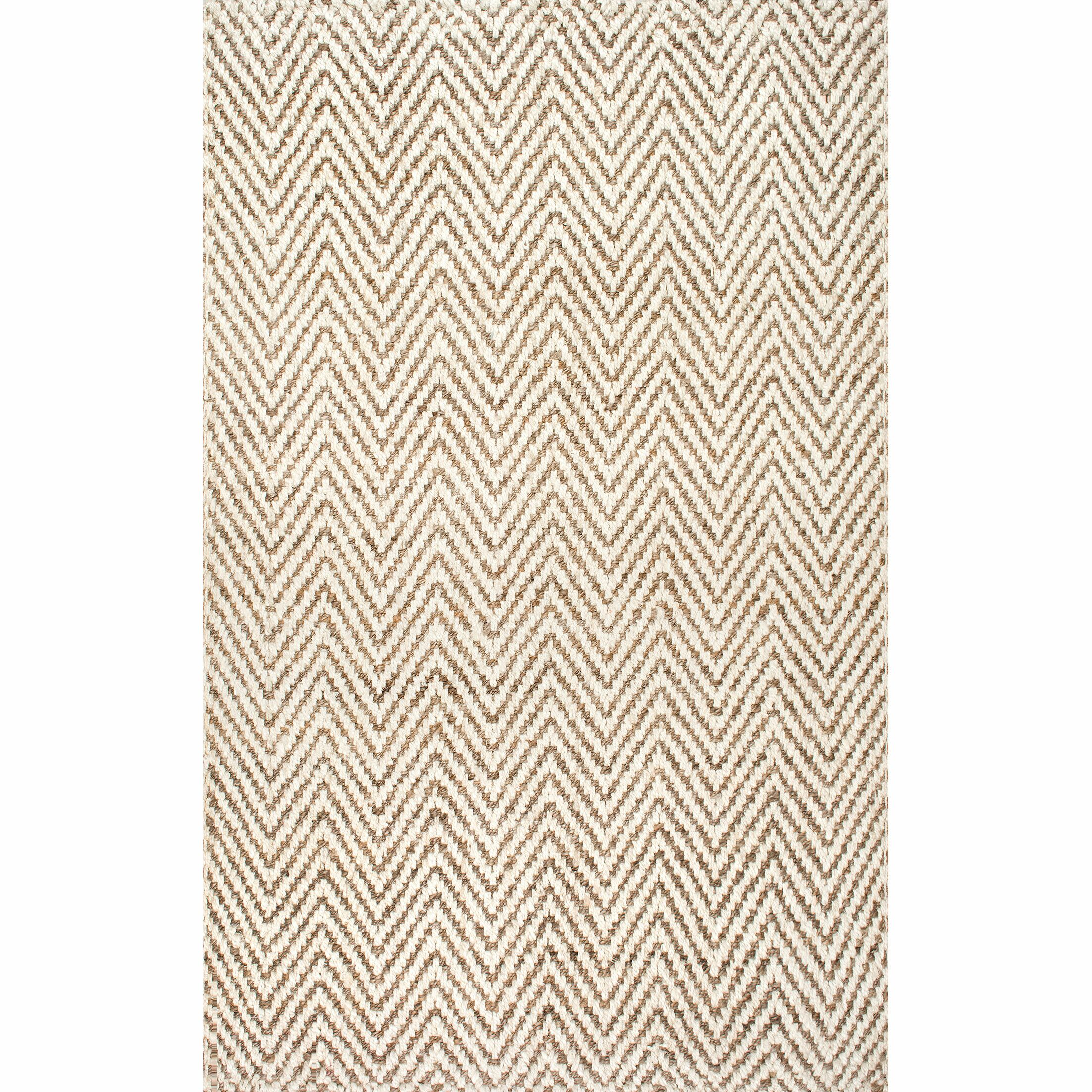 Norcross Hand-Woven Tan Area Rug Rug Size: Rectangle 4' x 6'