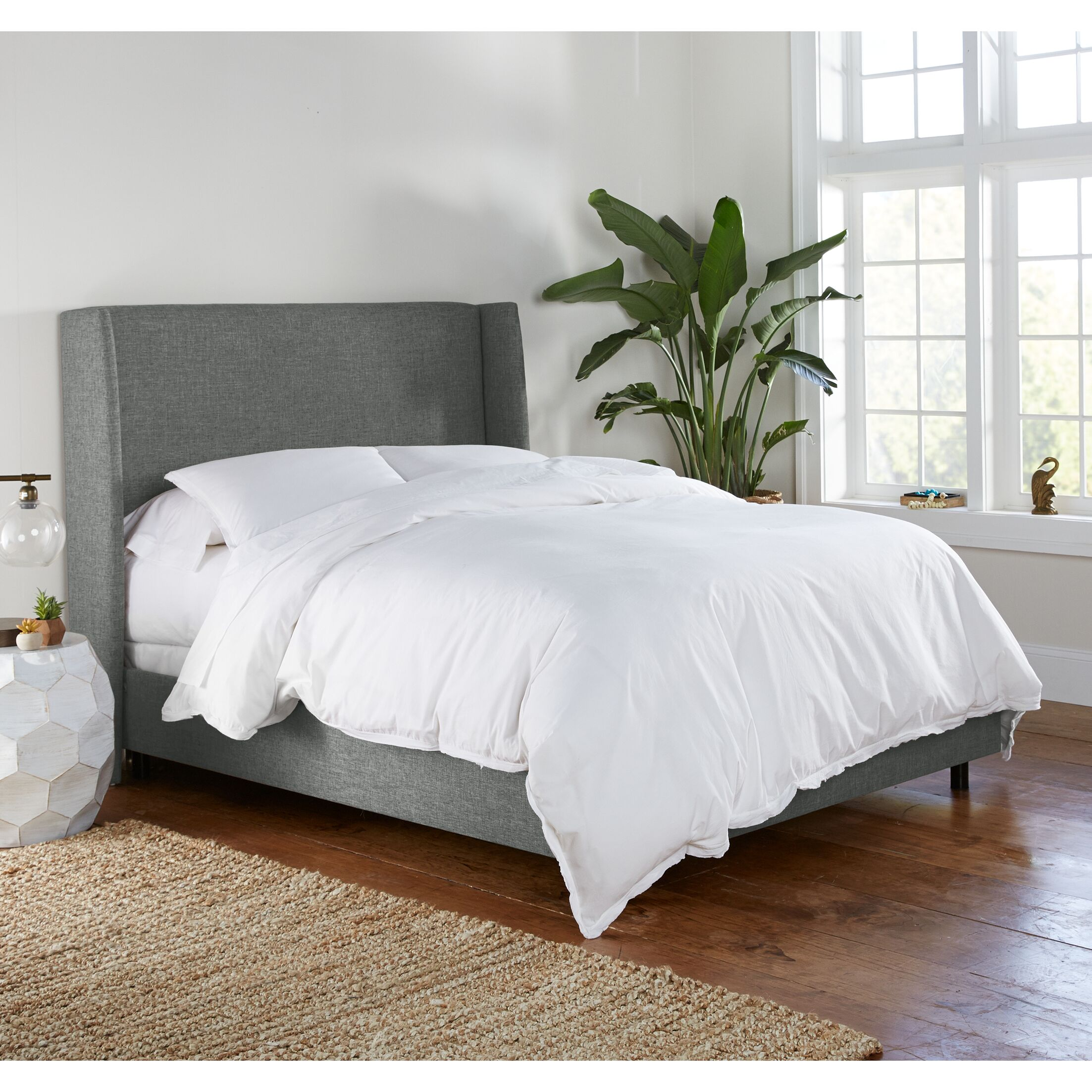 Alrai Upholstered Panel Bed Size: Queen, Color: Zuma Charcoal