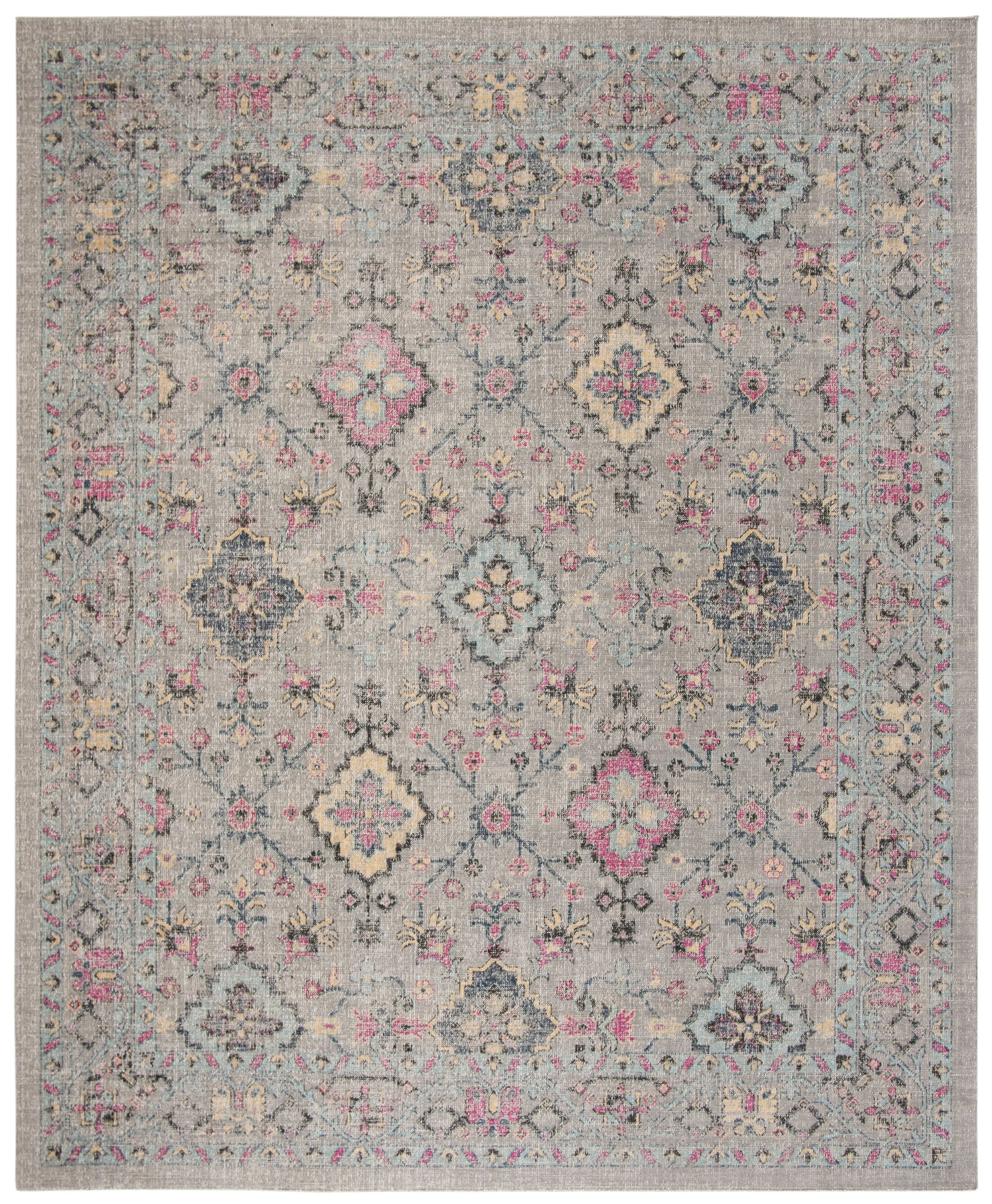Bunn Gray/Blue Area Rug Rug Size: Rectangle 8' x 10'