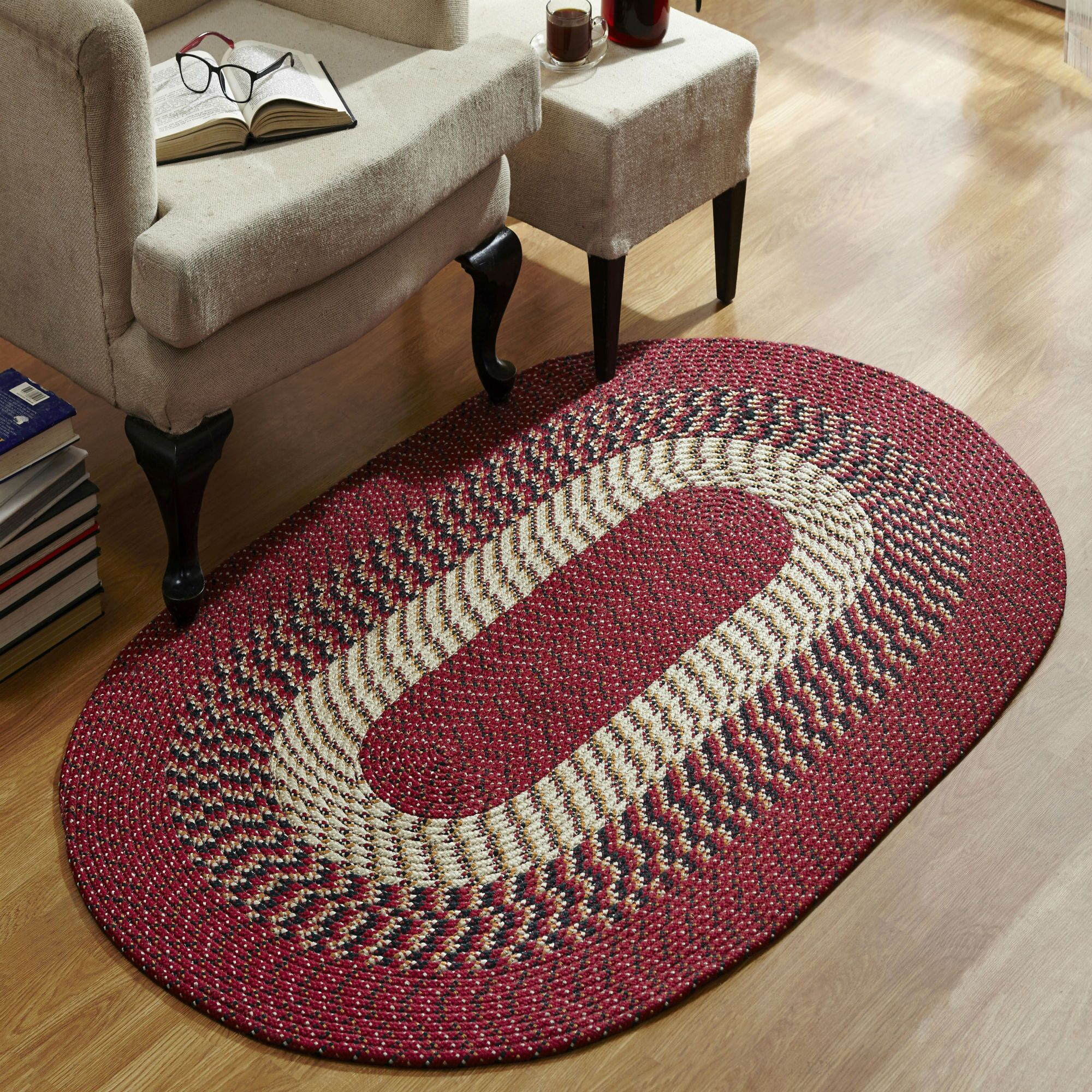 Barn Red Area Rug Rug Size: Rectangle 8' x 11'