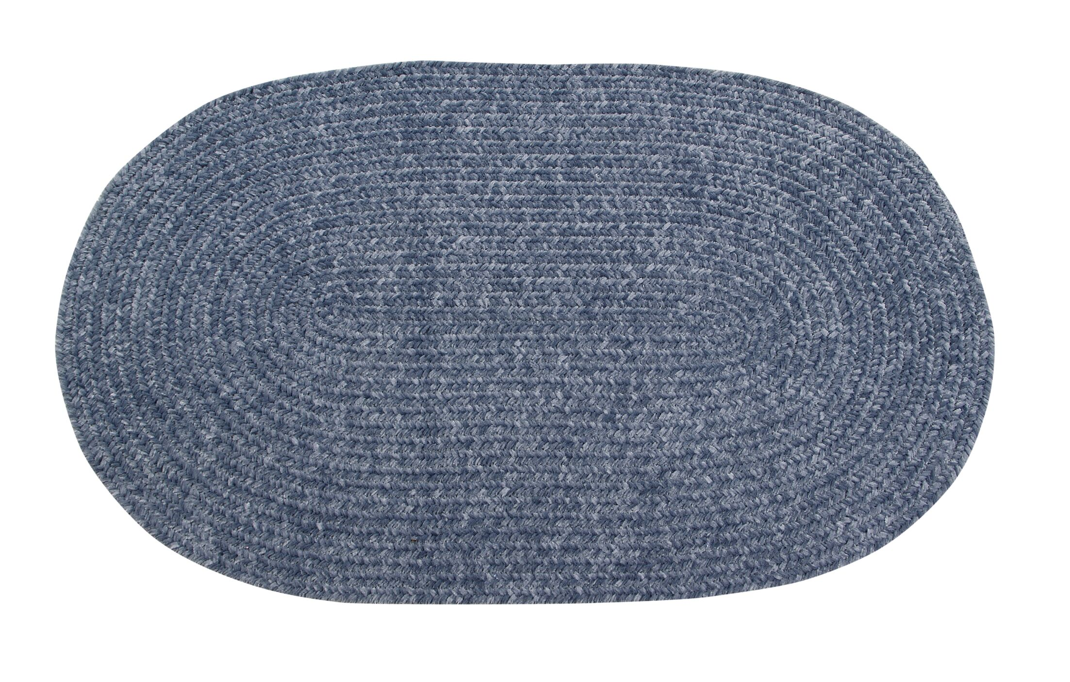 Keaton Chenille Reversible Braided Gray Area Rug Rug Size: Oval 8' x 10'