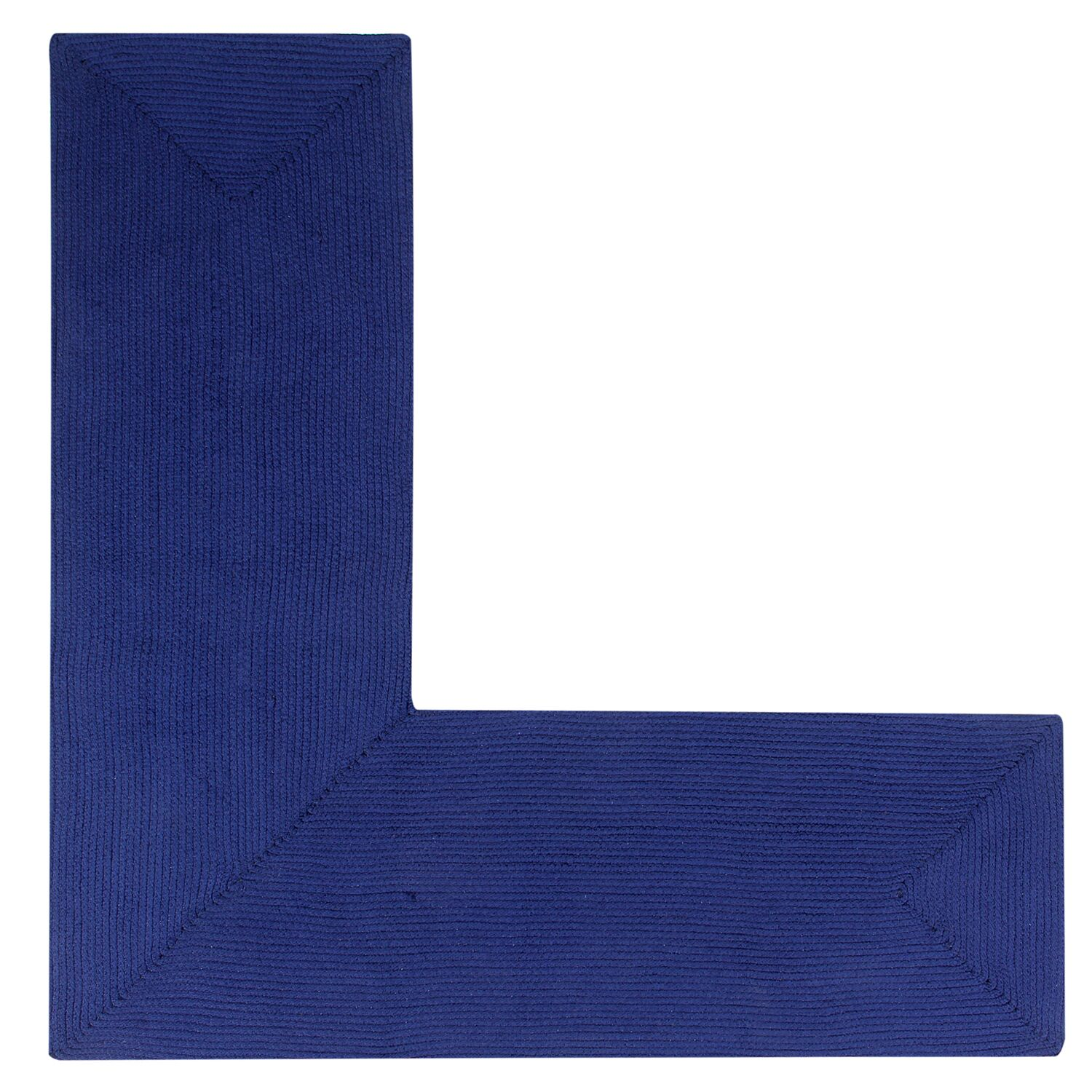 Vienne Navy Solid Area Rug Rug Size: L-Shaped 2' x 5'