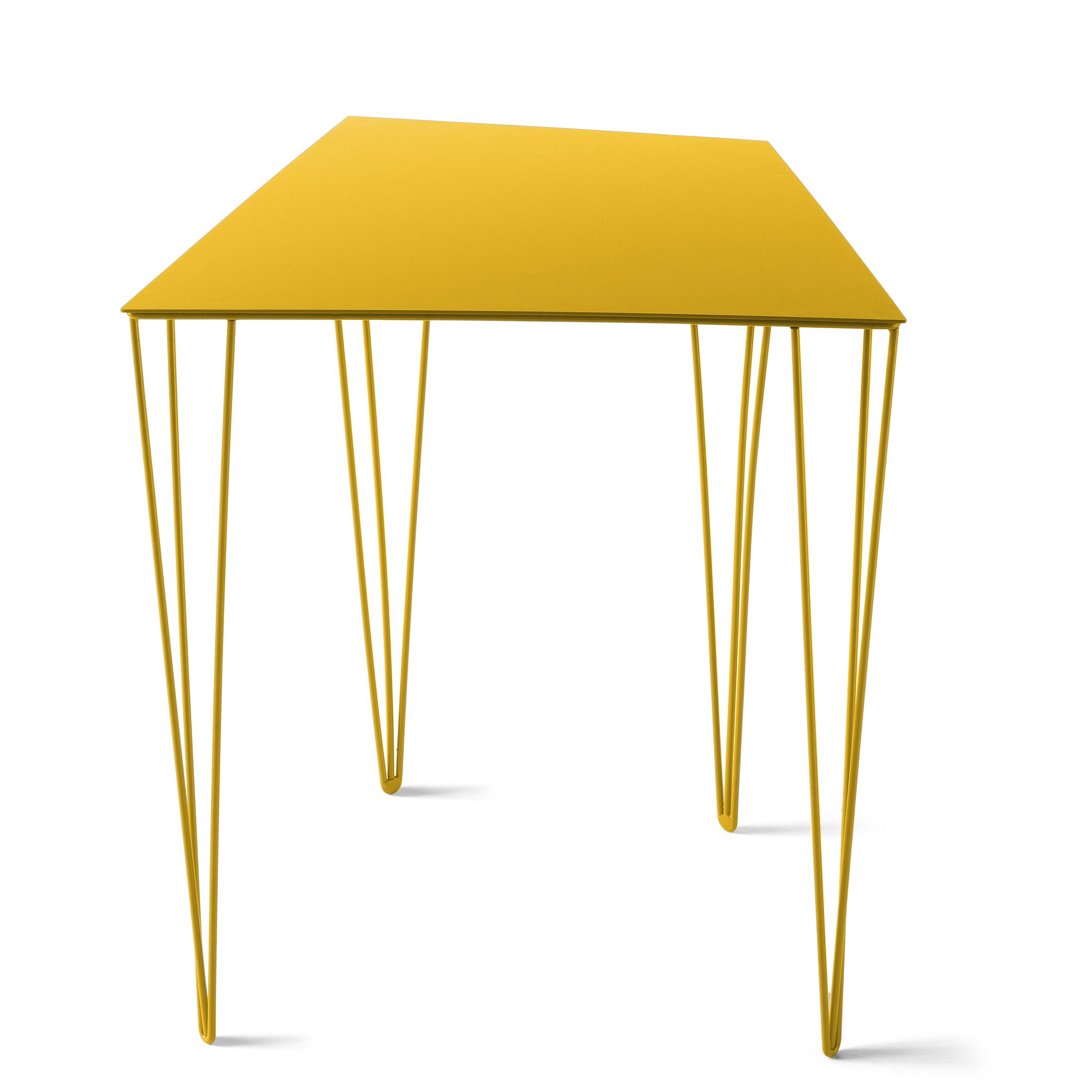 Chele Coffee Table Color: Traffic Yellow, Size: 19.63