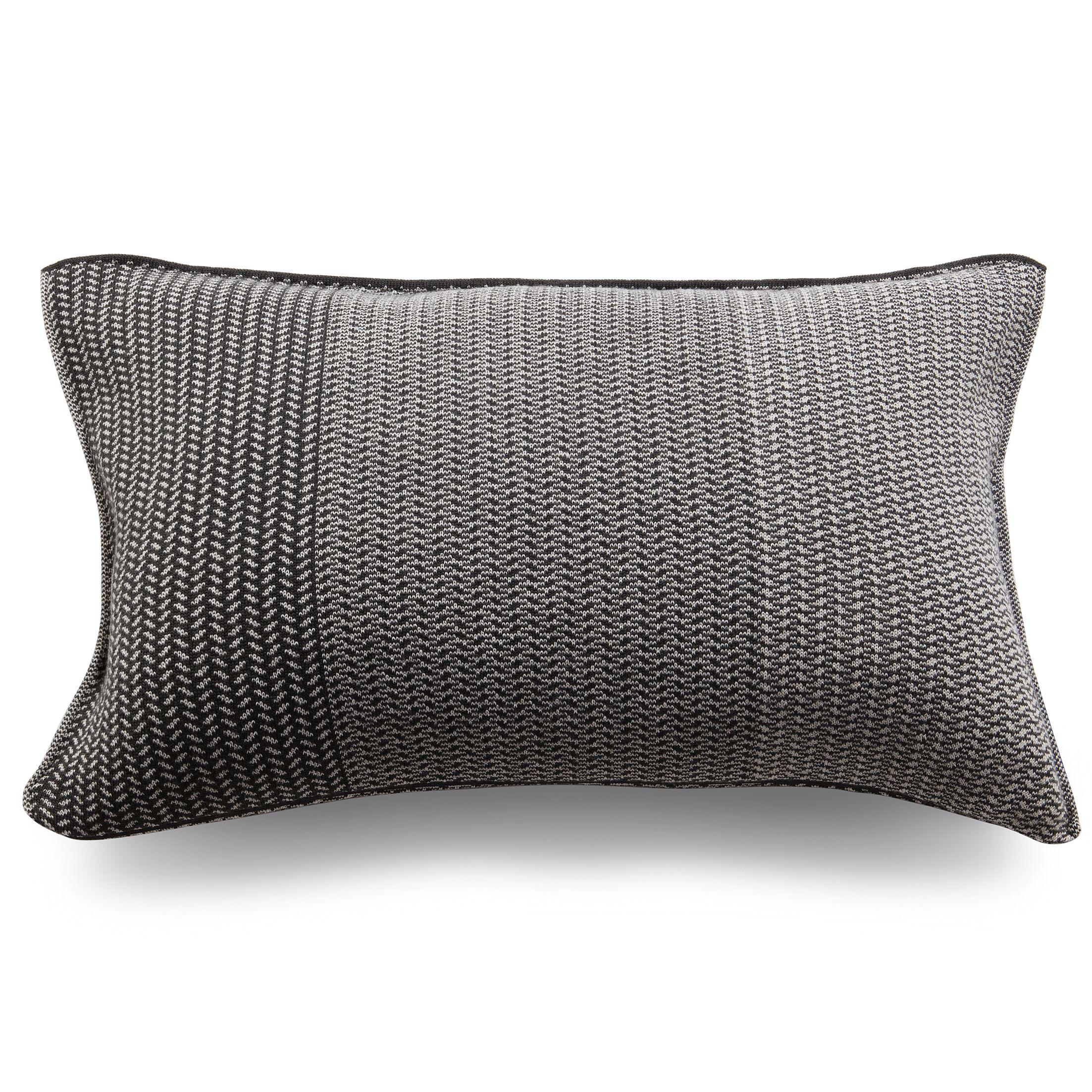 Spinatino Wool Lumbar Pillow Color: Lava Gray