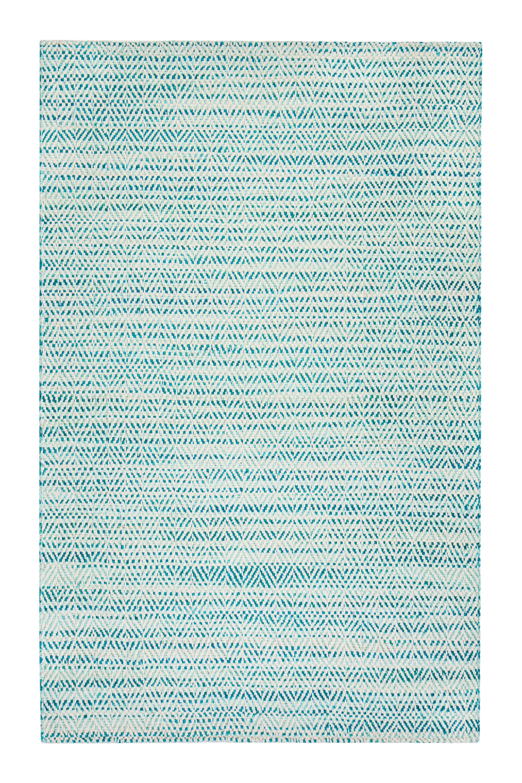 Flatweave Hand-Woven Green/Ivory Area Rug Rug Size: Rectangle 8' x 10'