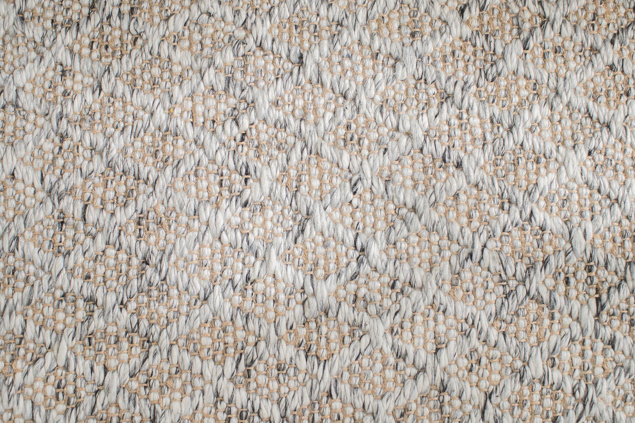 Soft Alternative Hand-Woven Gray Area Rug Rug Size: Rectangle 8' x 10'