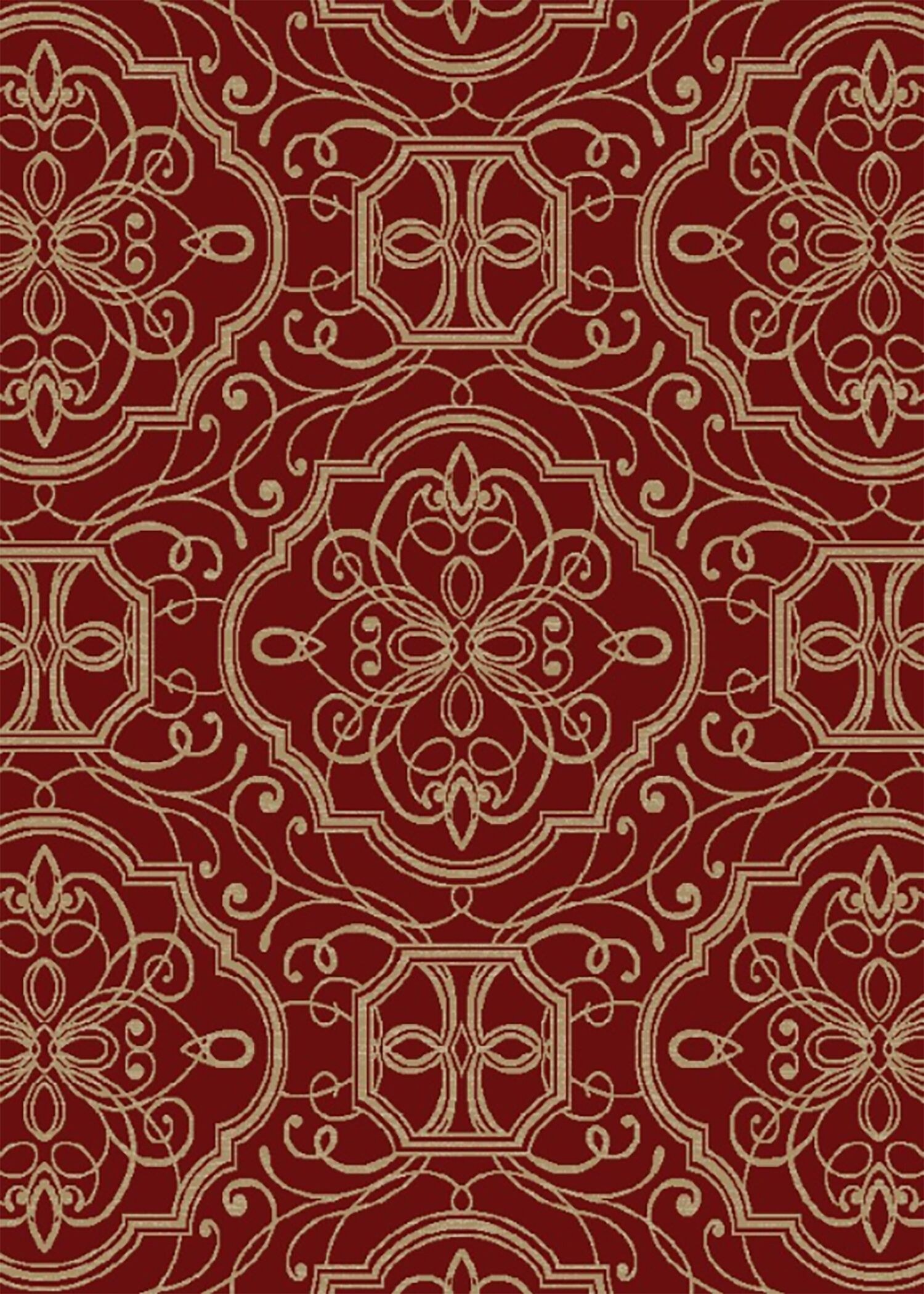 Hometown Empire Claret Area Rug Rug Size: 5' x 8'