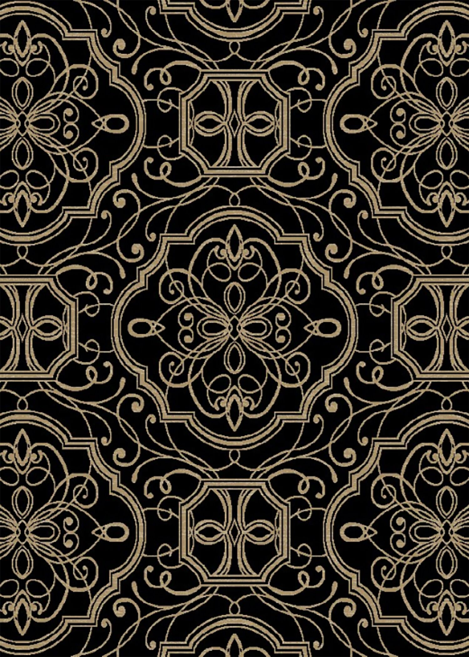 Hometown Empire Ebony Area Rug Rug Size: 8' x 10'