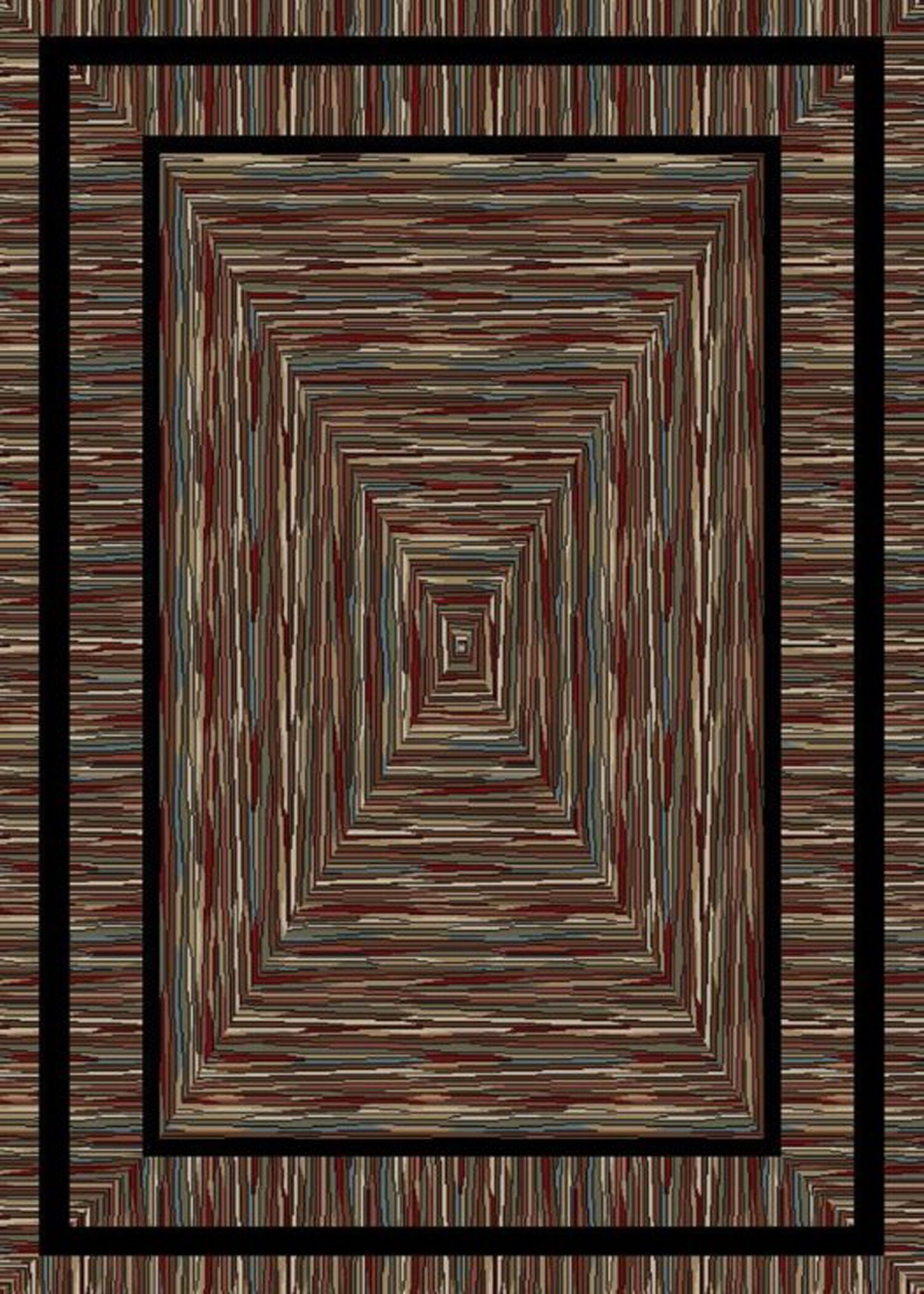 American Destinations Brown Area Rug Rug Size: Rectangle 5' x 8'