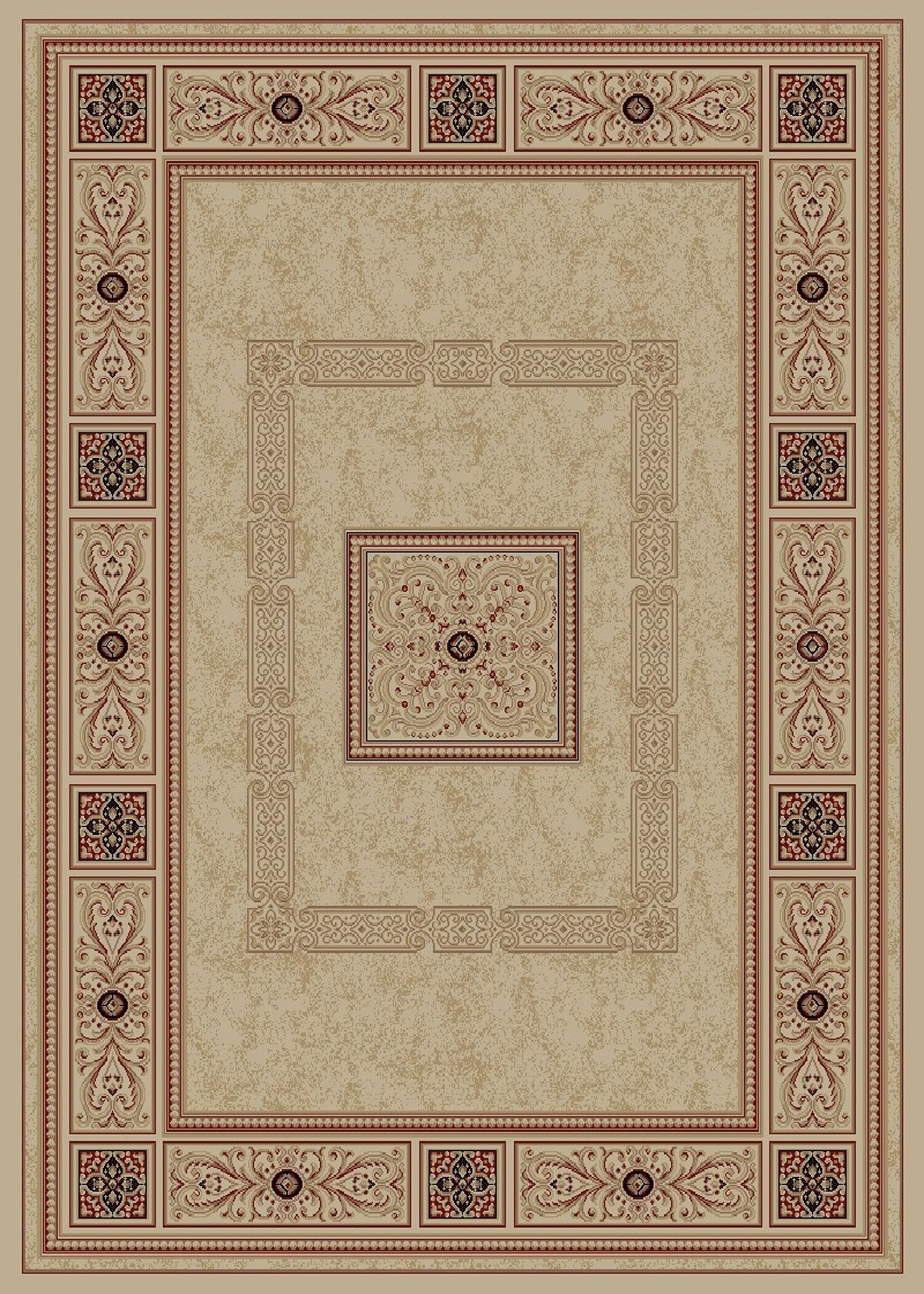 Heritage Ancient Empire Ivory Area Rug Rug Size: 9'3
