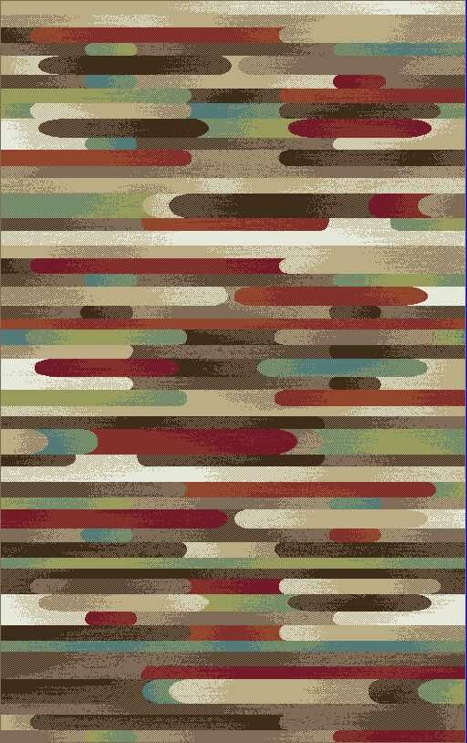 Brighton Brown/Red Area Rug Rug Size: 7'10