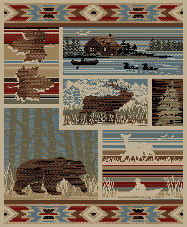 American Destinations Maple Valley Lodge Multi Area Rug Rug Size: 7'10