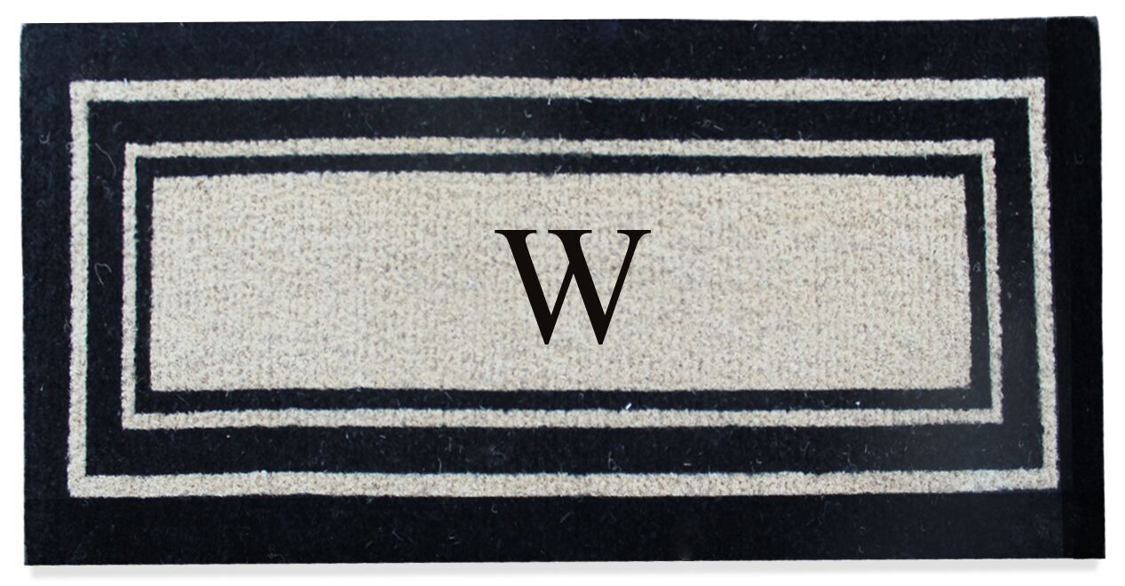 First Impression Westwood Border Monogrammed Doormat Letter: W