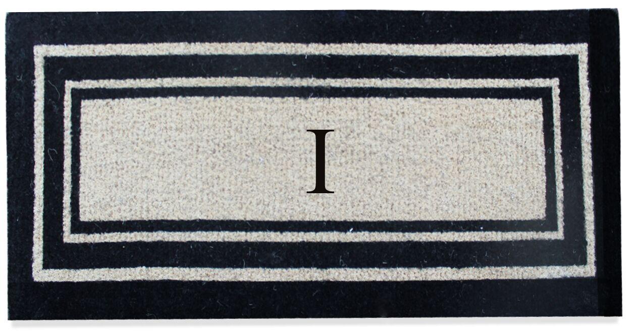 First Impression Westwood Border Monogrammed Doormat Letter: I