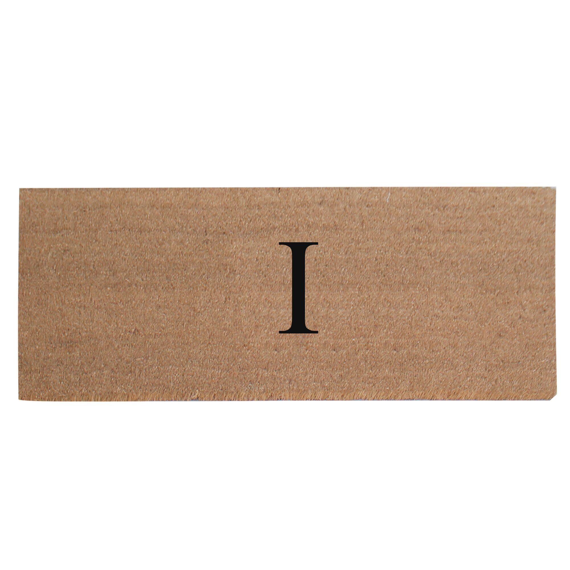 First Impression Plain Coir Doormat Letter: I