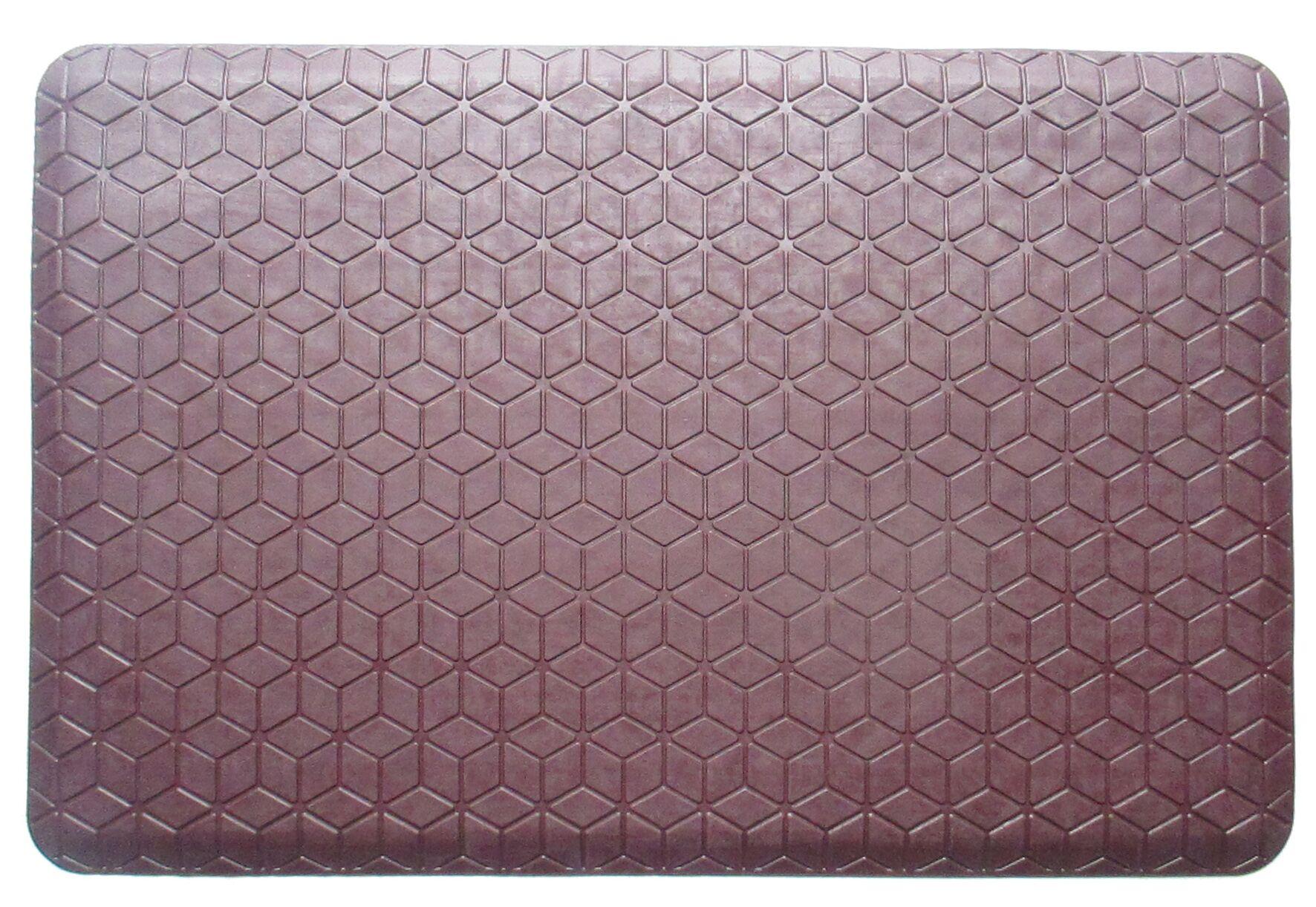 Shorewood Safety Grip Waterproof 100% Rubber Kitchen Mat Color: Burgandy