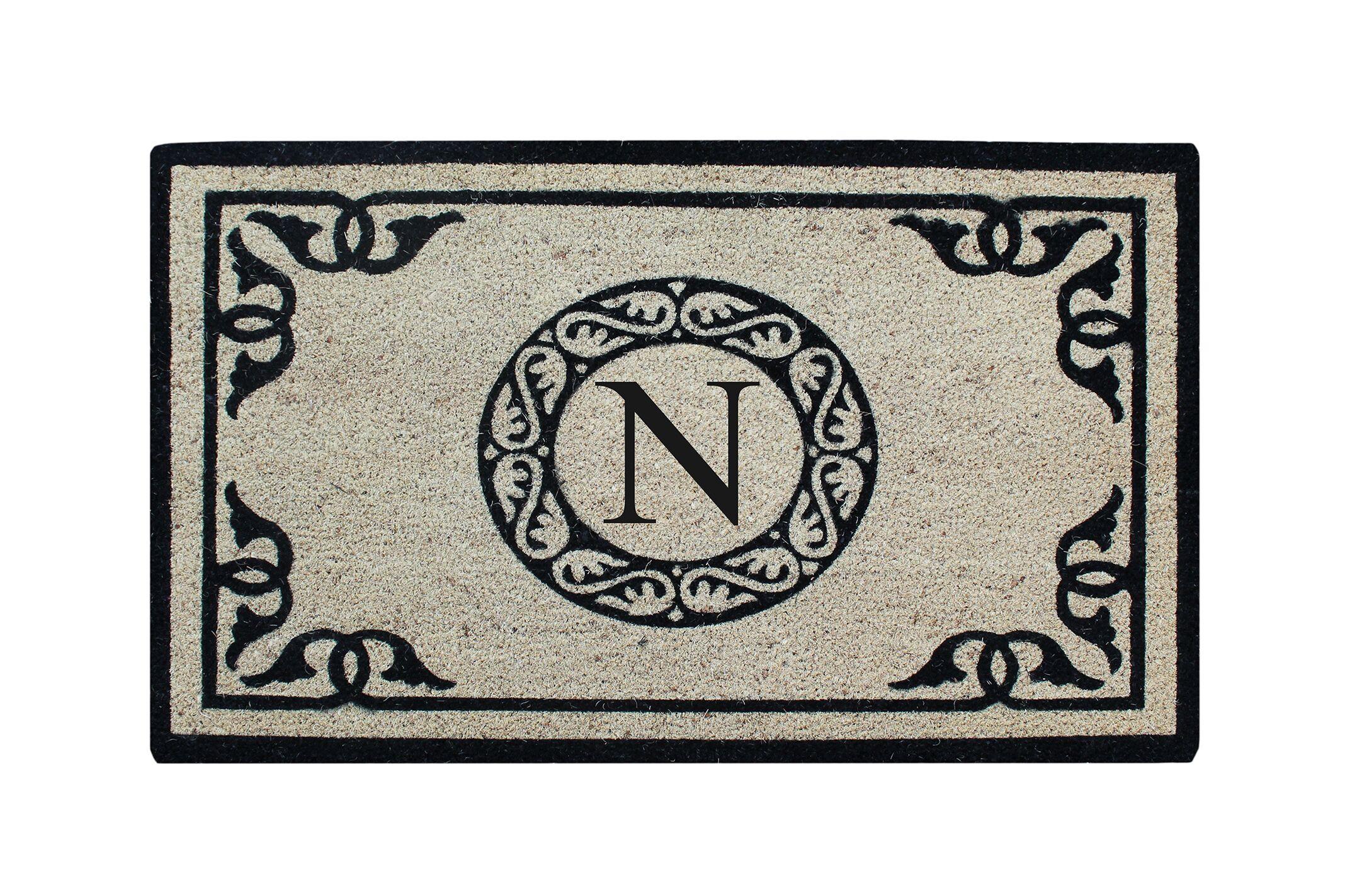 Hagerty Bleach Printed Doormat Letter: N