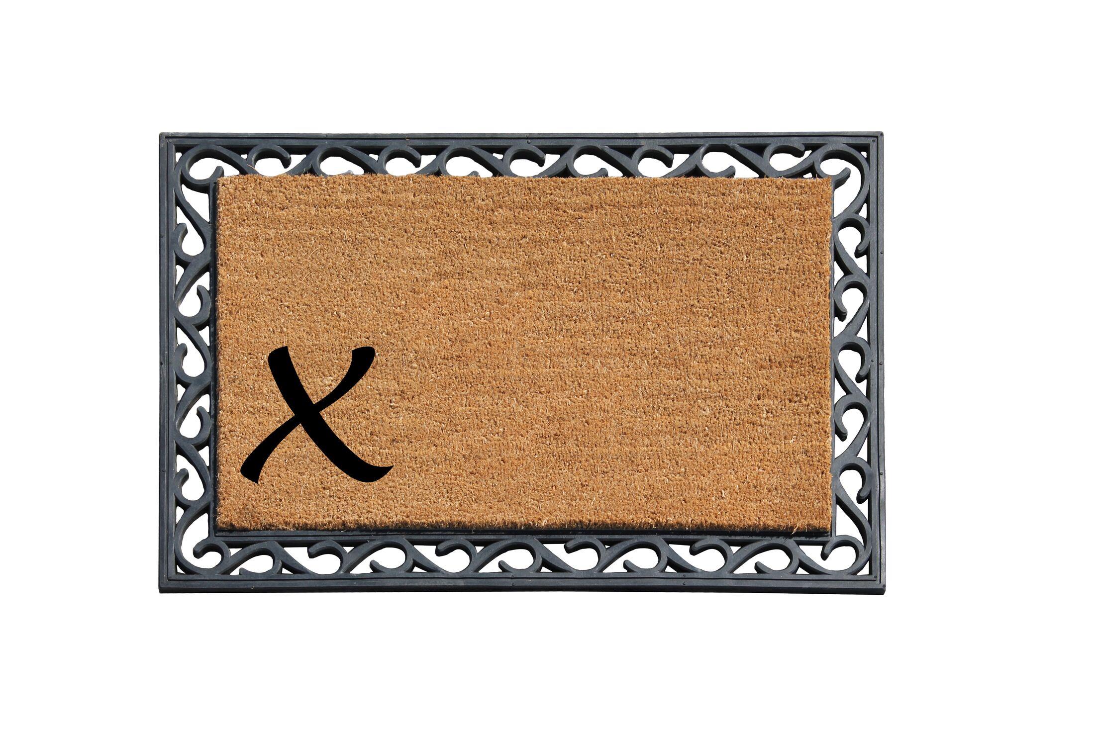 First Impression Doormat Letter: X