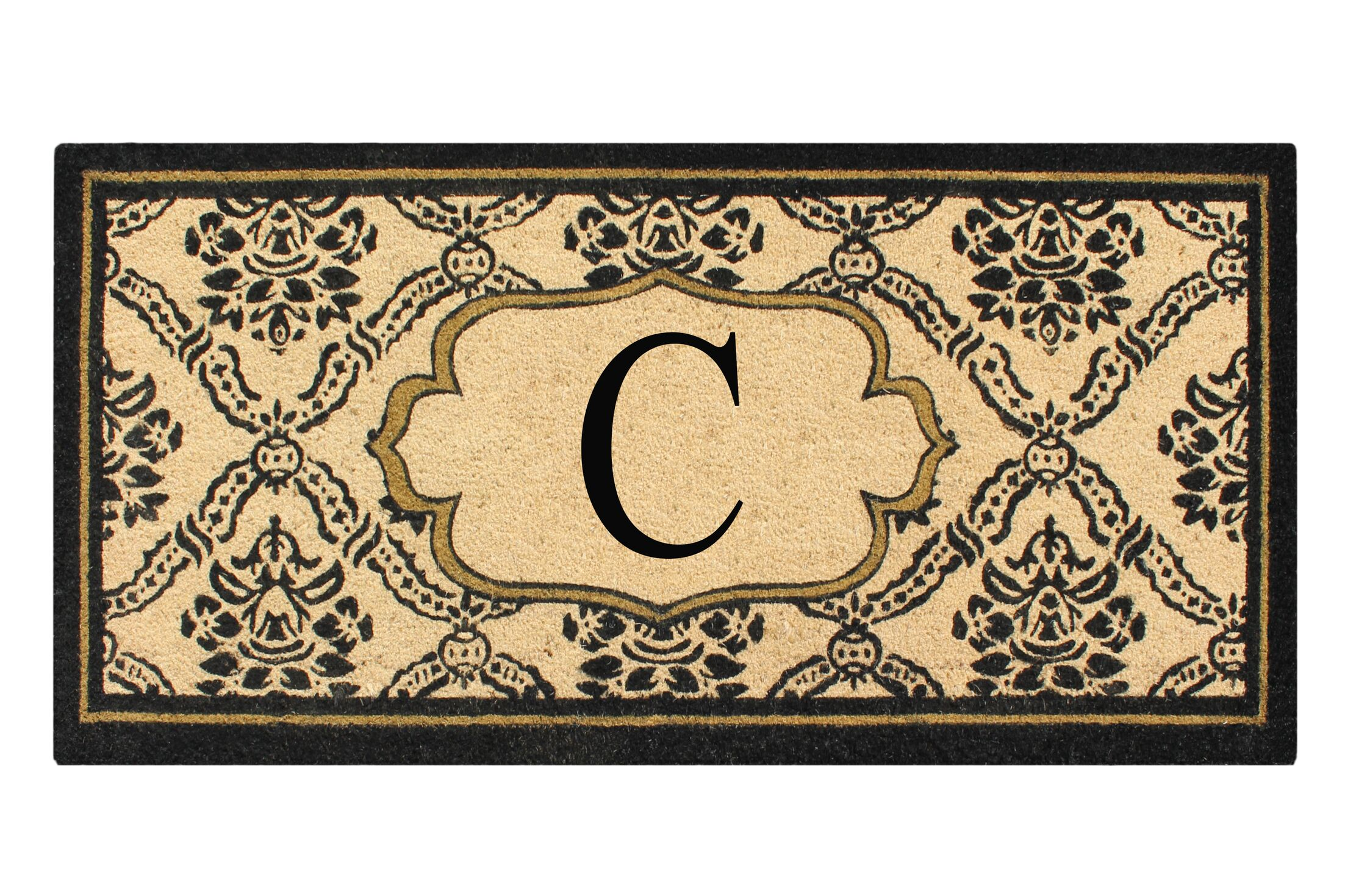 First Impression Engineered Anti Shred Treated Uriel Monogrammed Doormat Letter: C
