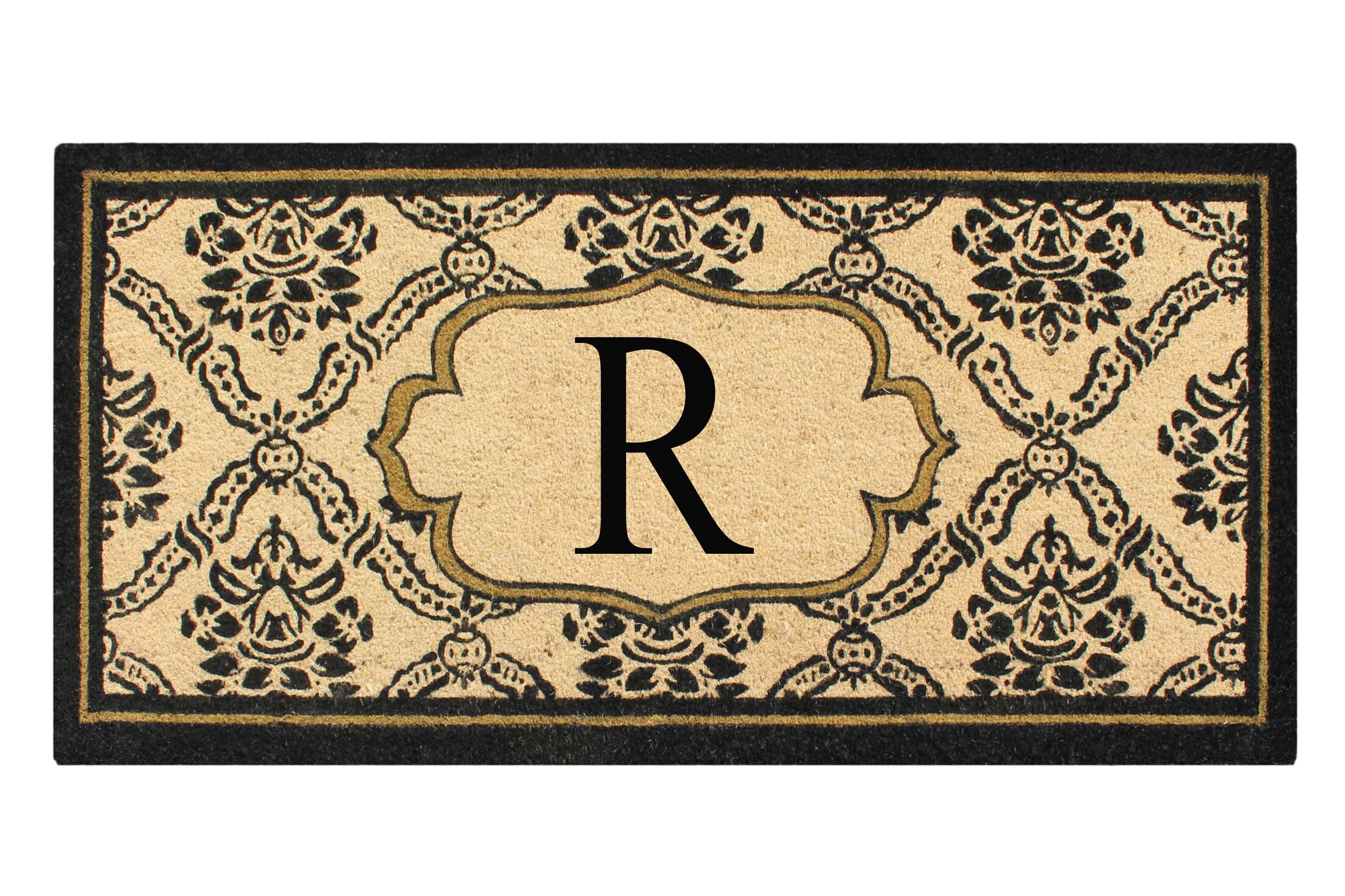 First Impression Engineered Anti Shred Treated Uriel Monogrammed Doormat Letter: R