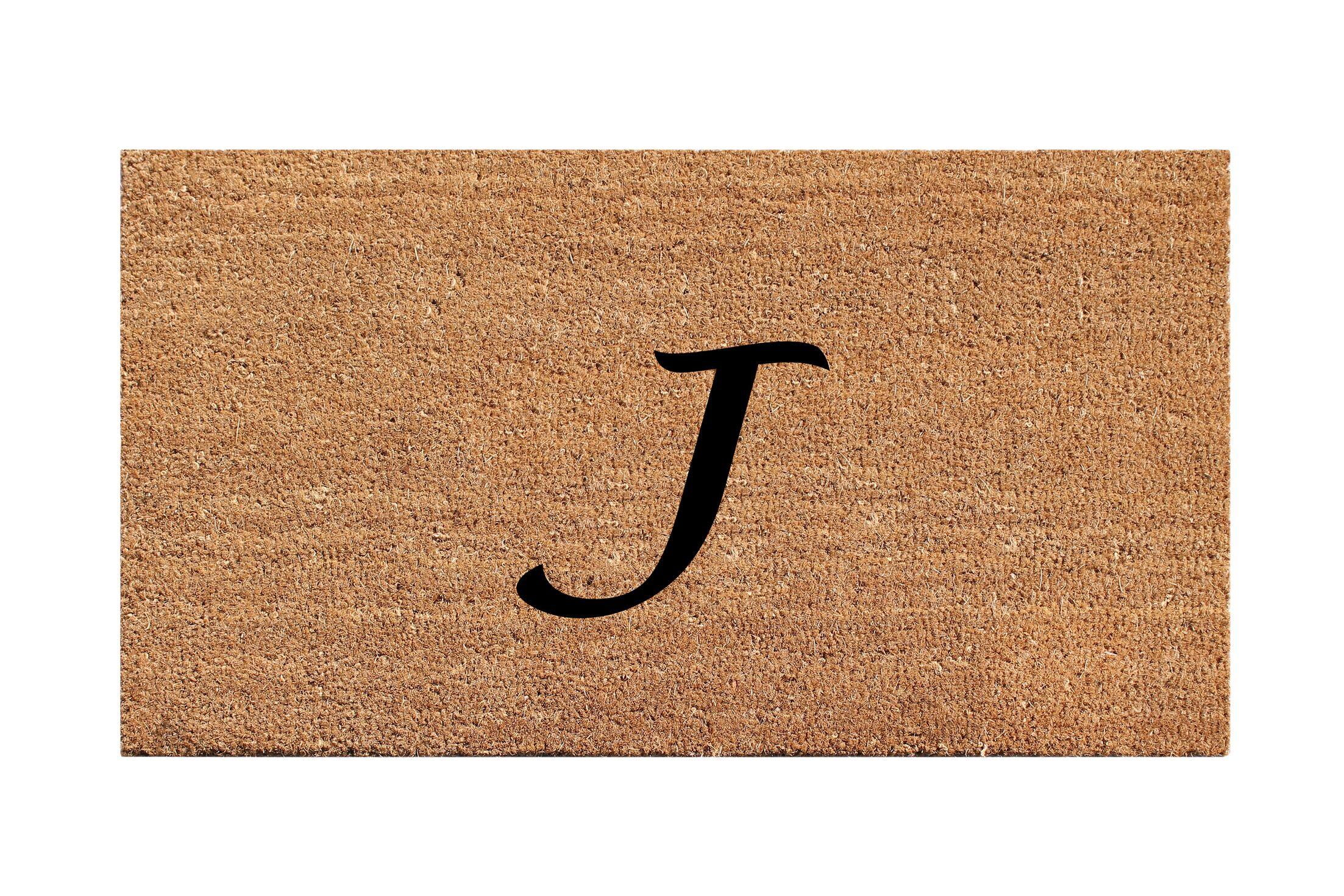 First Impression Monogrammed Doormat Letter: J
