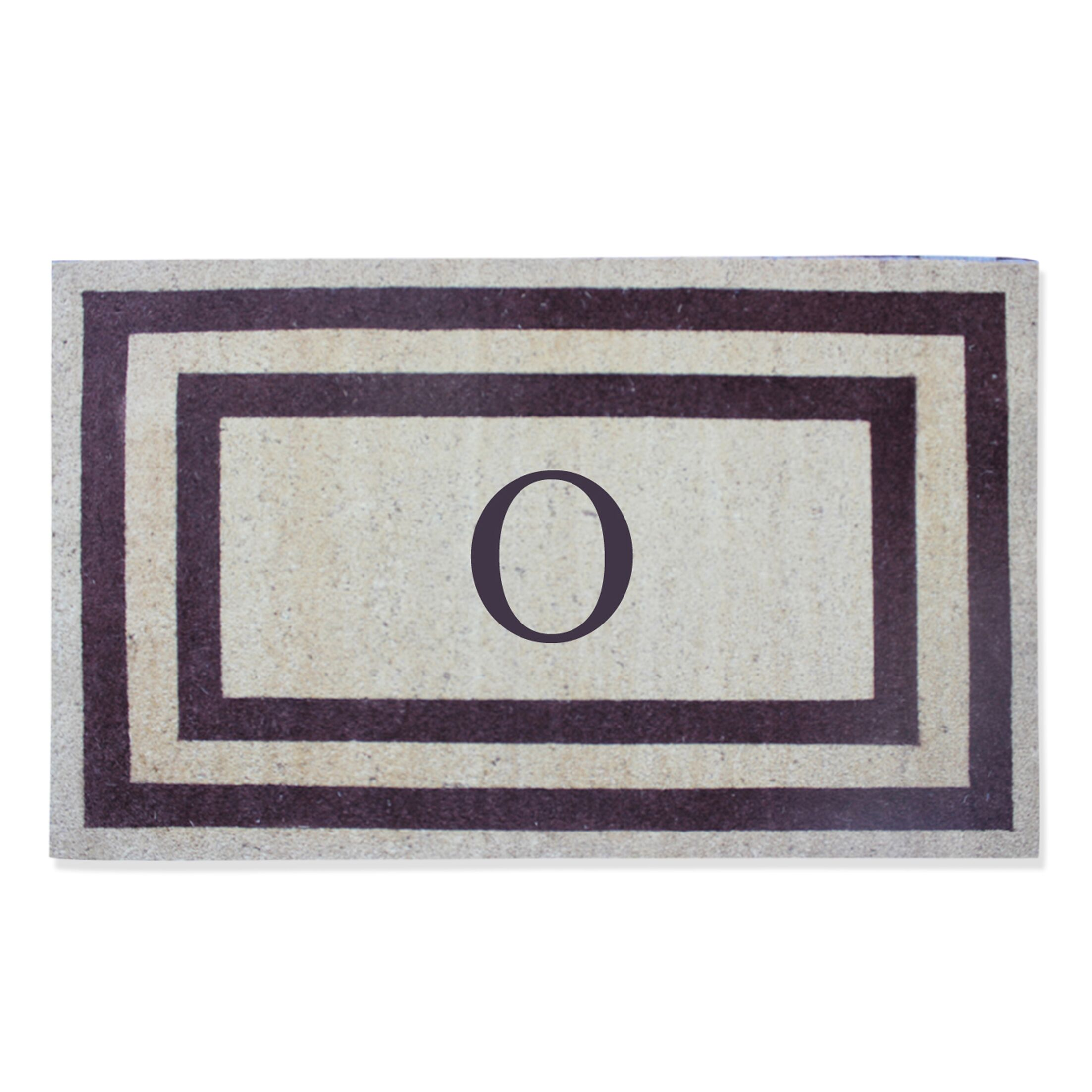 First Impression Engineered Anti Shred Treated Terrance Border Doormat Letter: O