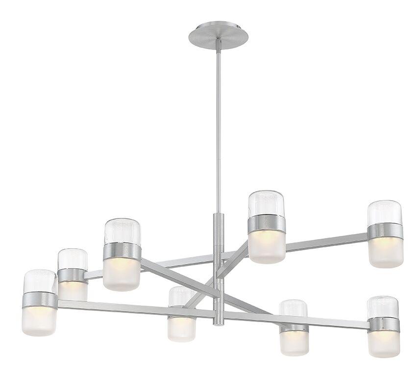 Jazz 8-Light  LED  Chandelier Finish: Brushed Aluminum/Clear