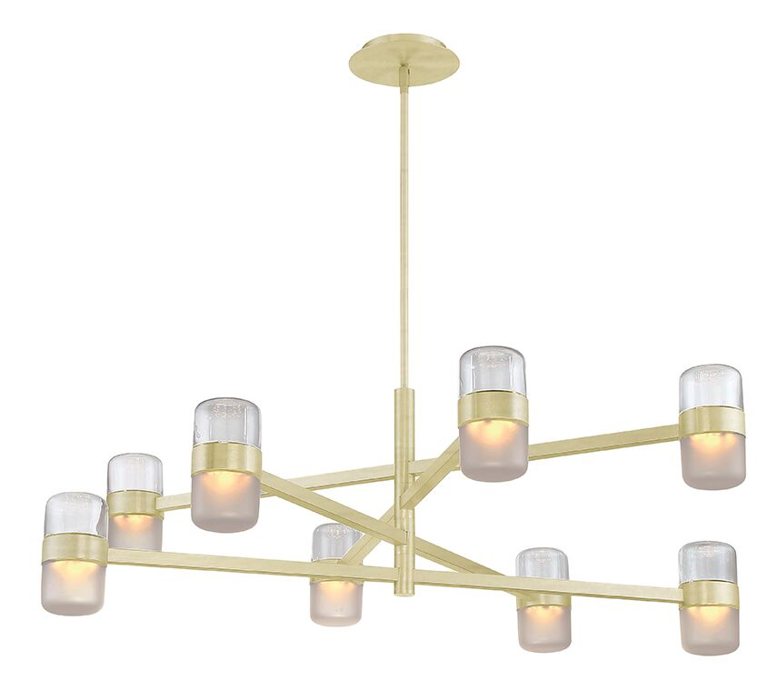 Jazz 8-Light  LED  Chandelier Finish: Brass/Smoke