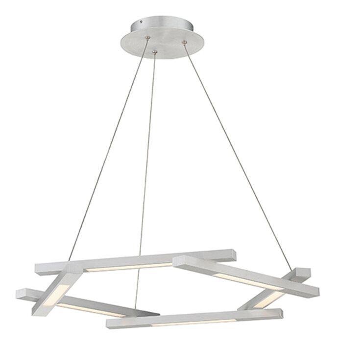 Metric 6-Light  LED  Pendant Finish: Brushed Aluminum