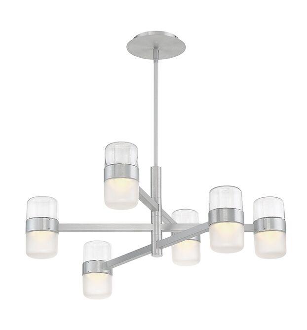 Jazz 6-Light  LED  Chandelier Finish: Brushed Aluminum/Clear