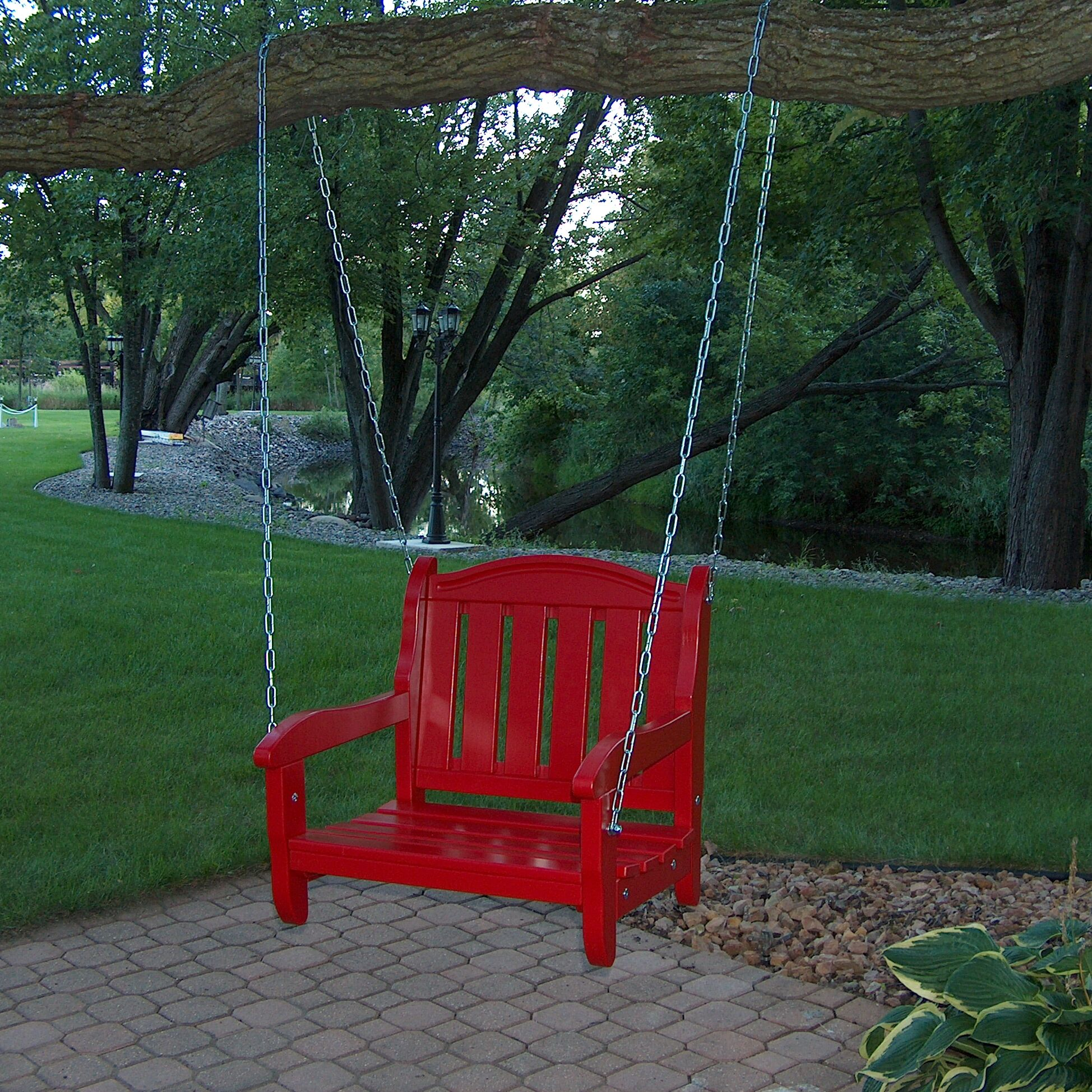 Garden Chair Porch Swing Finish: Fire Engine Red