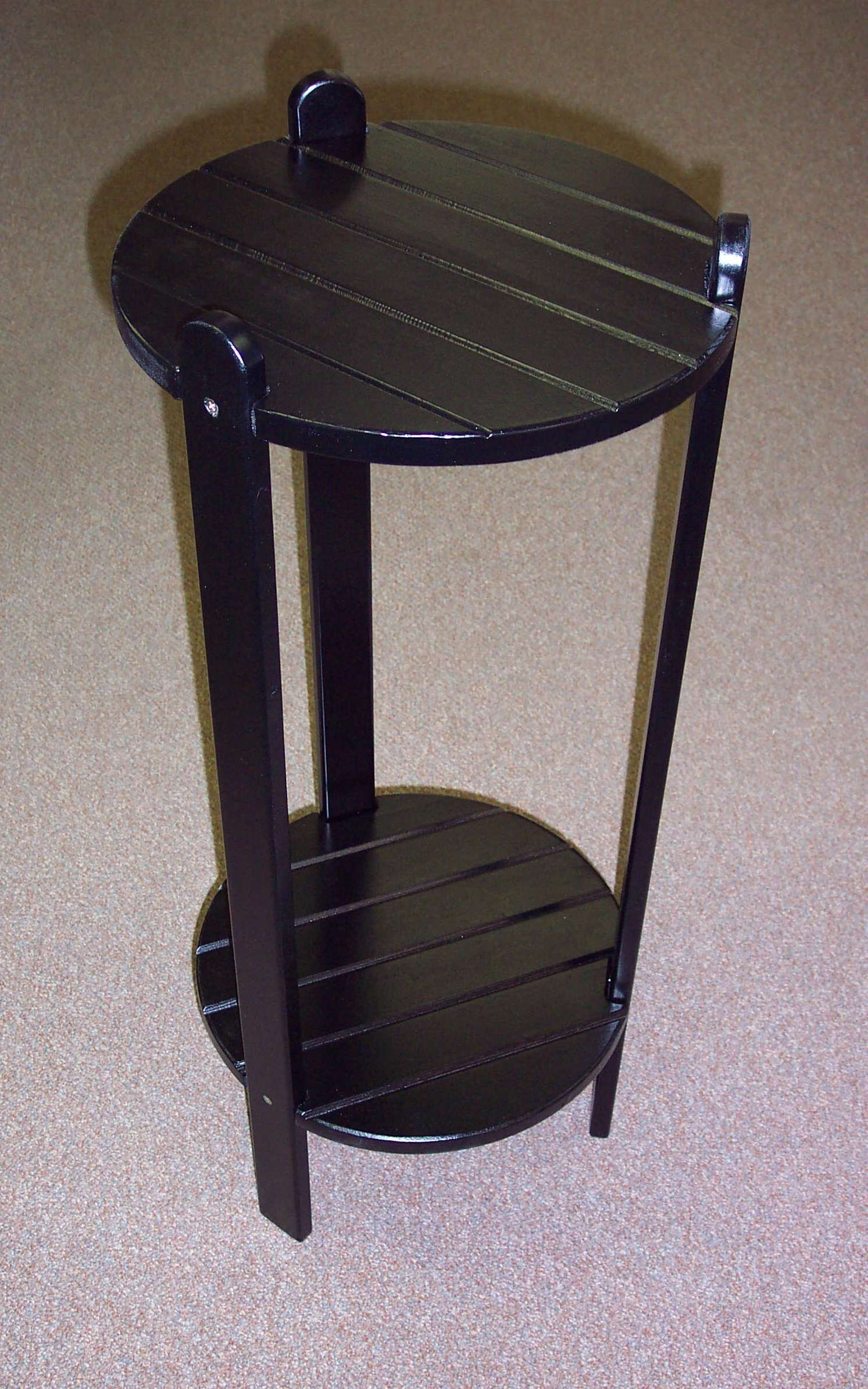 Cottage Bistro Table Finish: Black, Table Size: 36