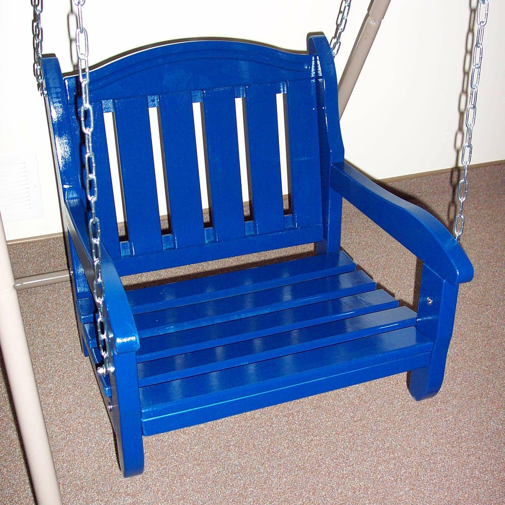 Garden Chair Porch Swing Finish: Berry Blue