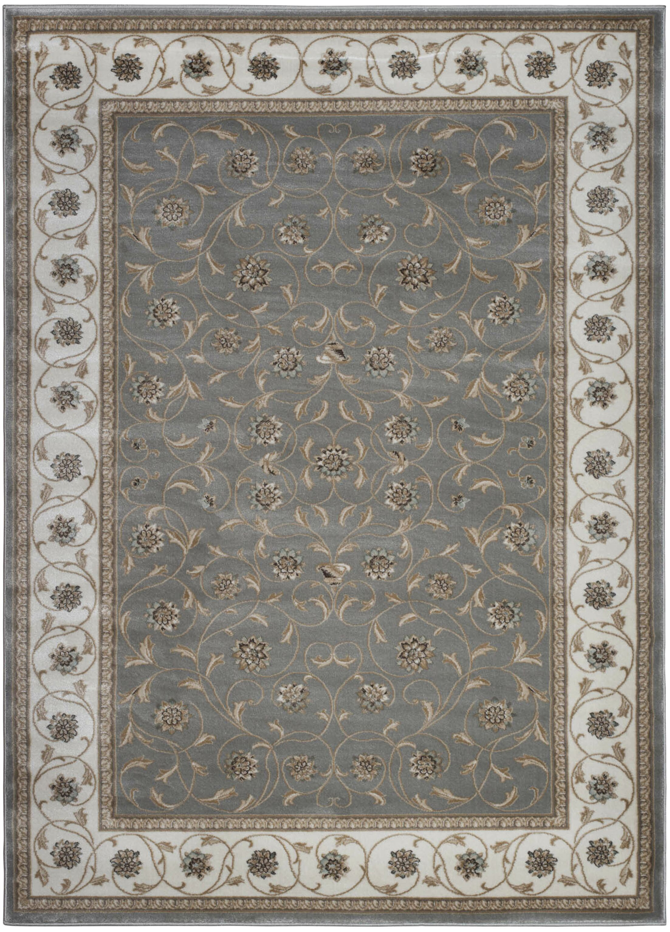 Ackermanville Gray Area Rug Rug Size: Rectangle 5'3