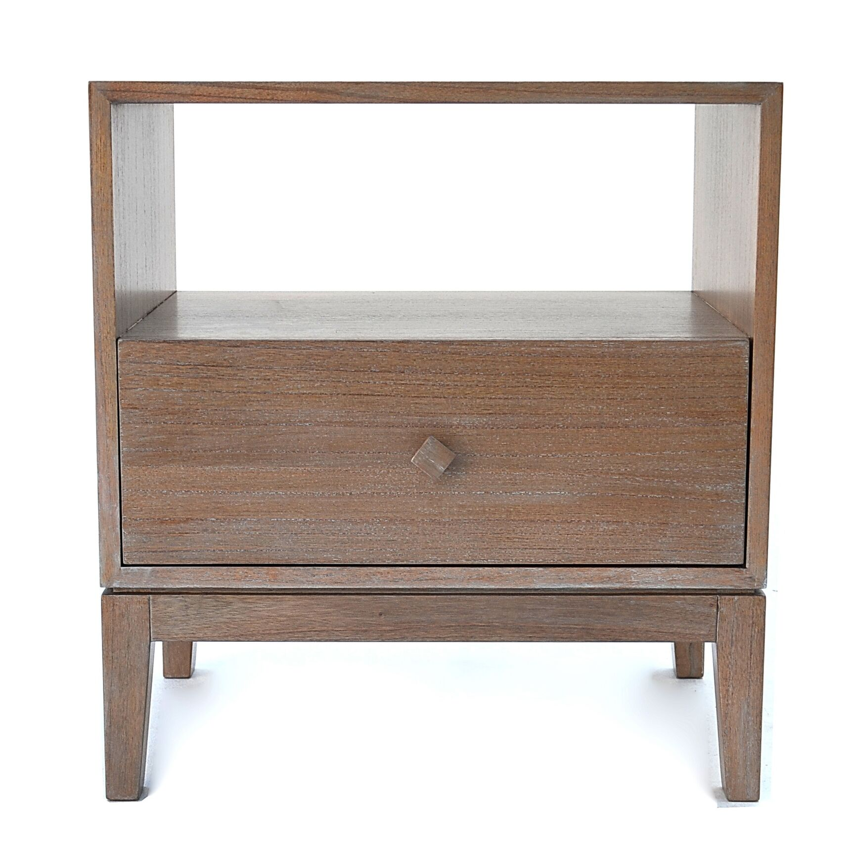 Kuta 1 Drawer Nightstand Color: Washed Grey