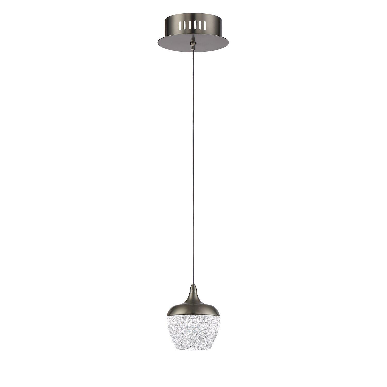 Villegas 1-Light  LED Globe Pendant Finish: Black Stainless